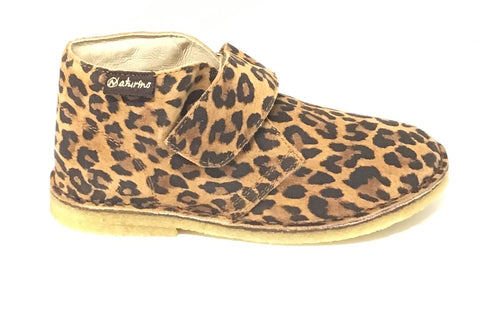 Naturino Cola Leopard Print Shoe with Velcro