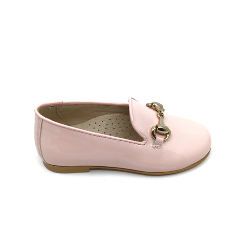 Hoo Pink Patent Loafer with Chain
