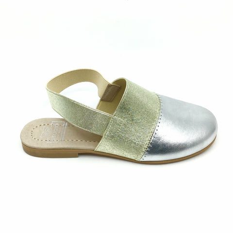 Hoo Silver Slip On with Gold Elastic