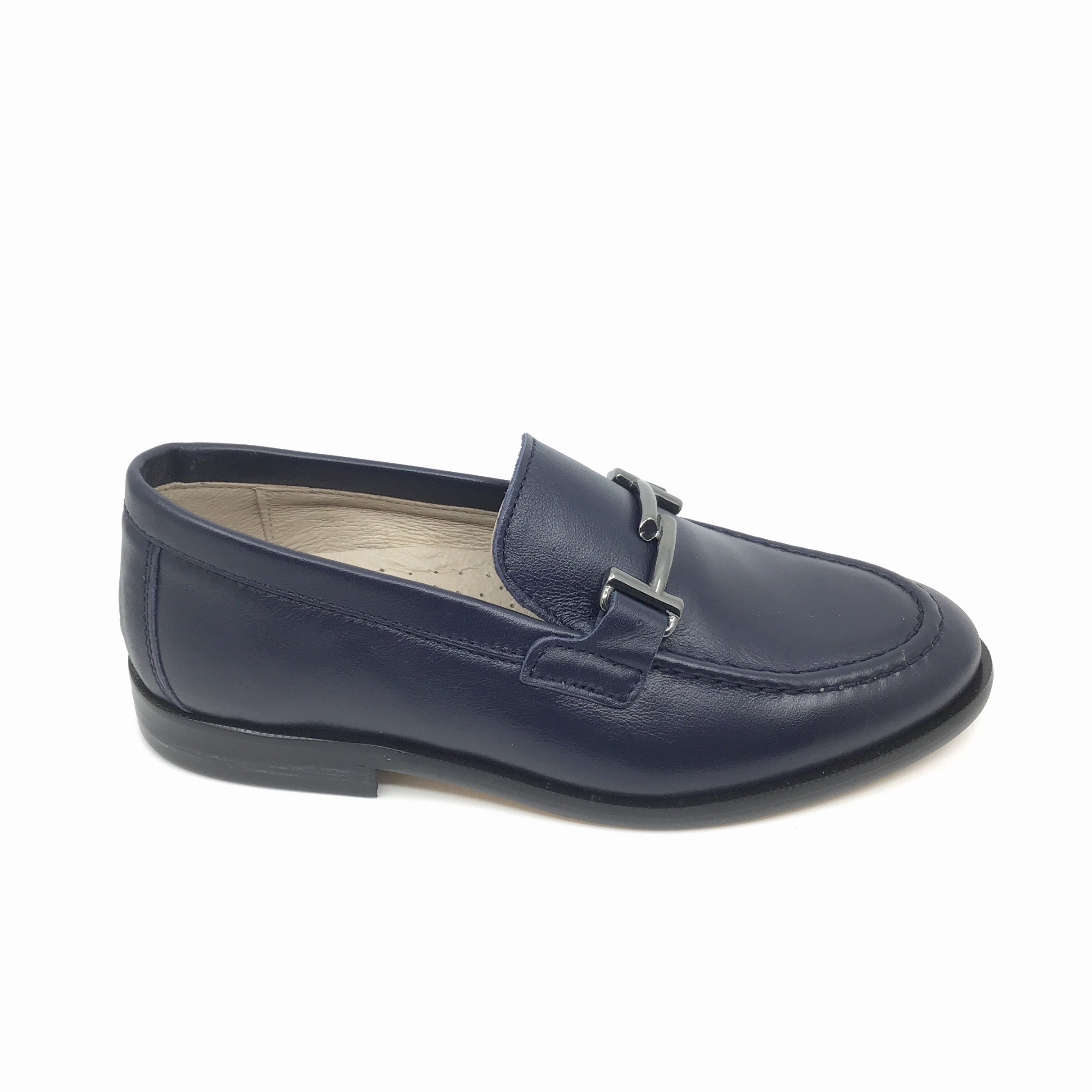 Hoo Navy Loafer with Chain