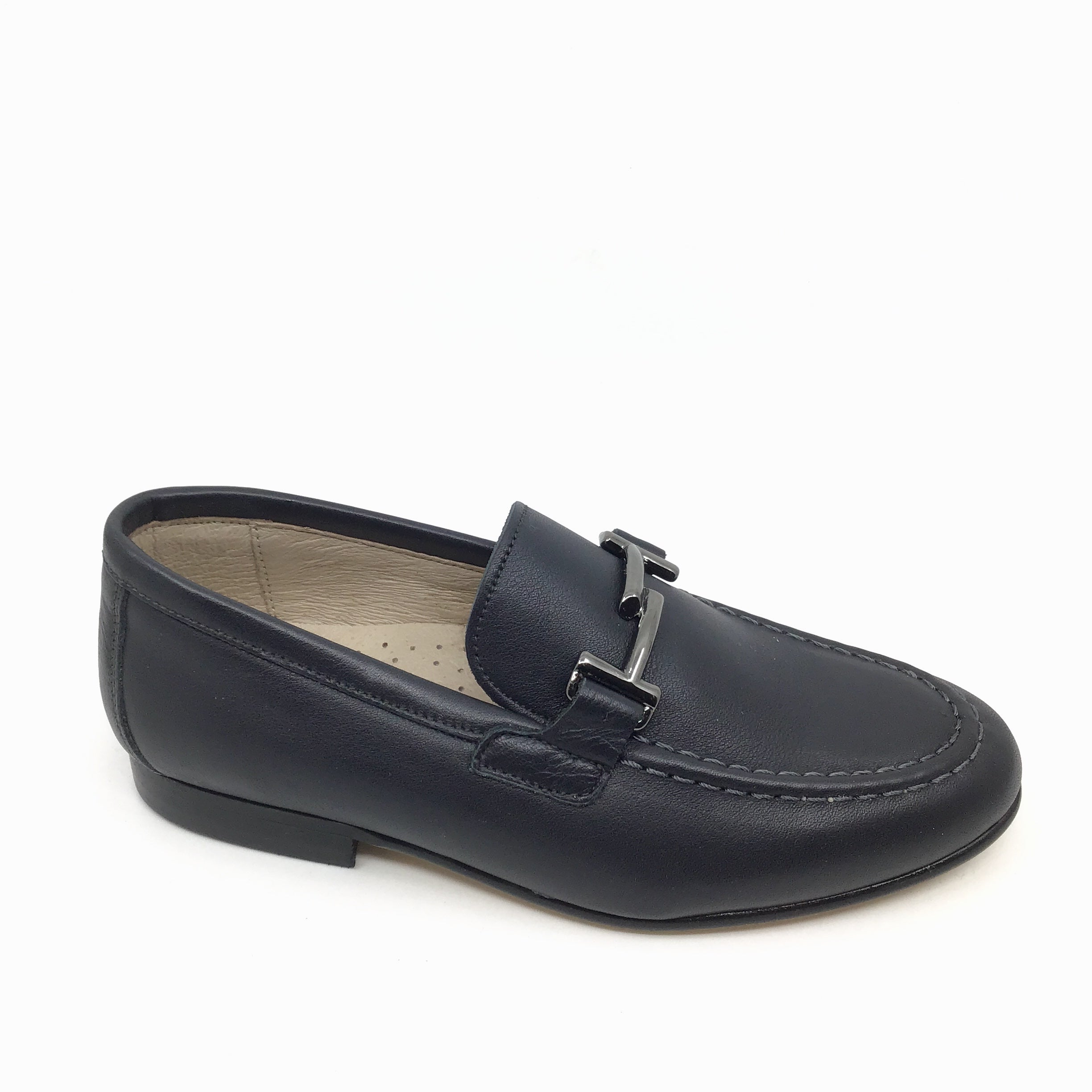 Hoo Dark Gray Loafer with Chain