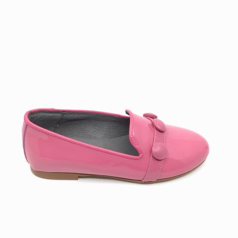 Blublonc Pink Patent Slip on with Buttons