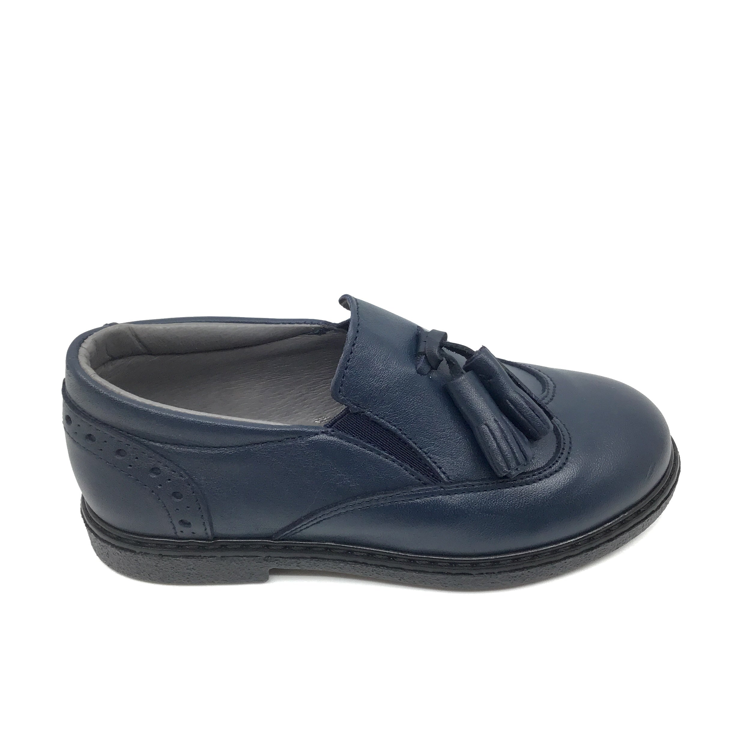 Blublonc Navy Slip On with Tassels