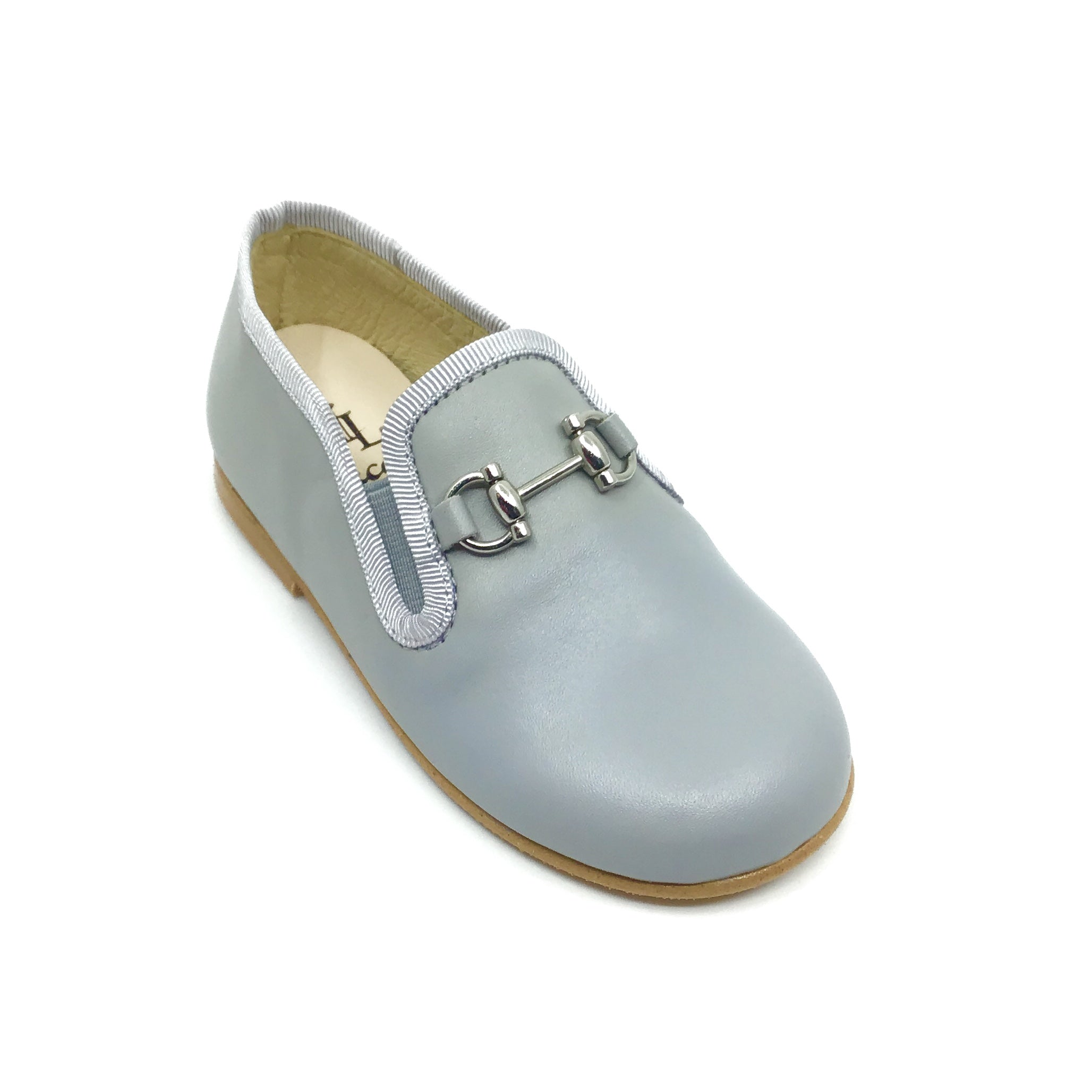 Luccini Gray Loafer with Chain