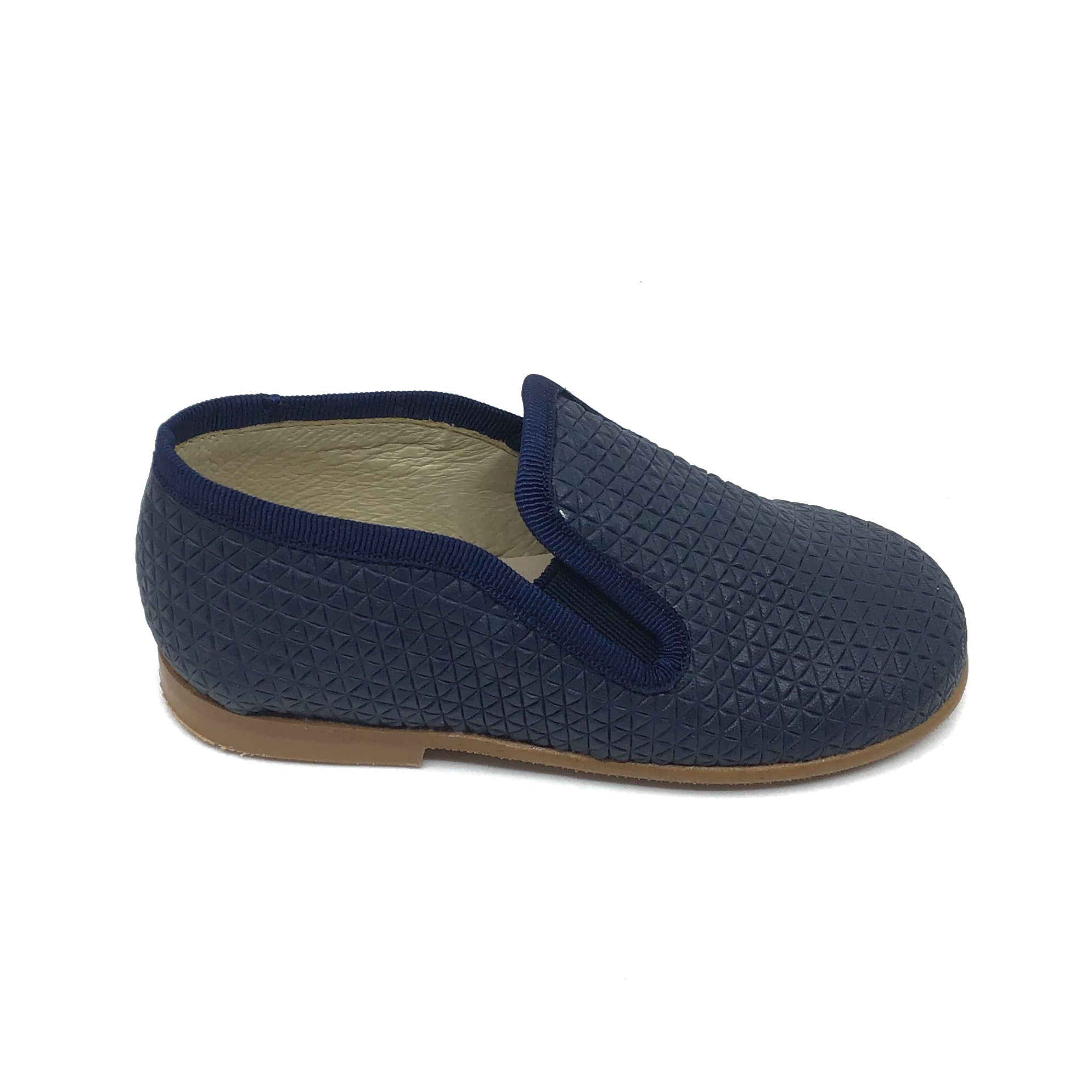 Luccini Navy Textured Slip On