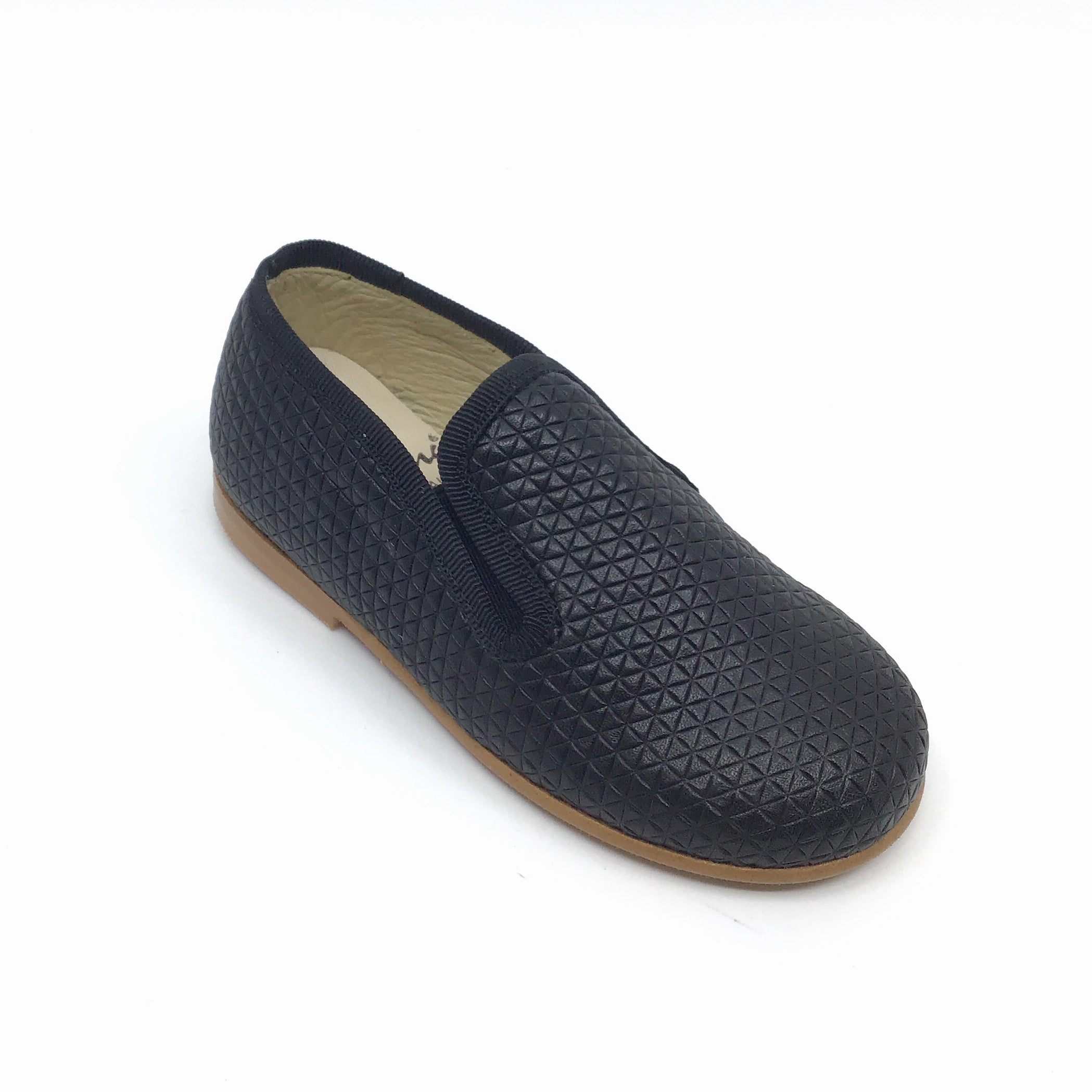 Luccini Black Textured Slip On