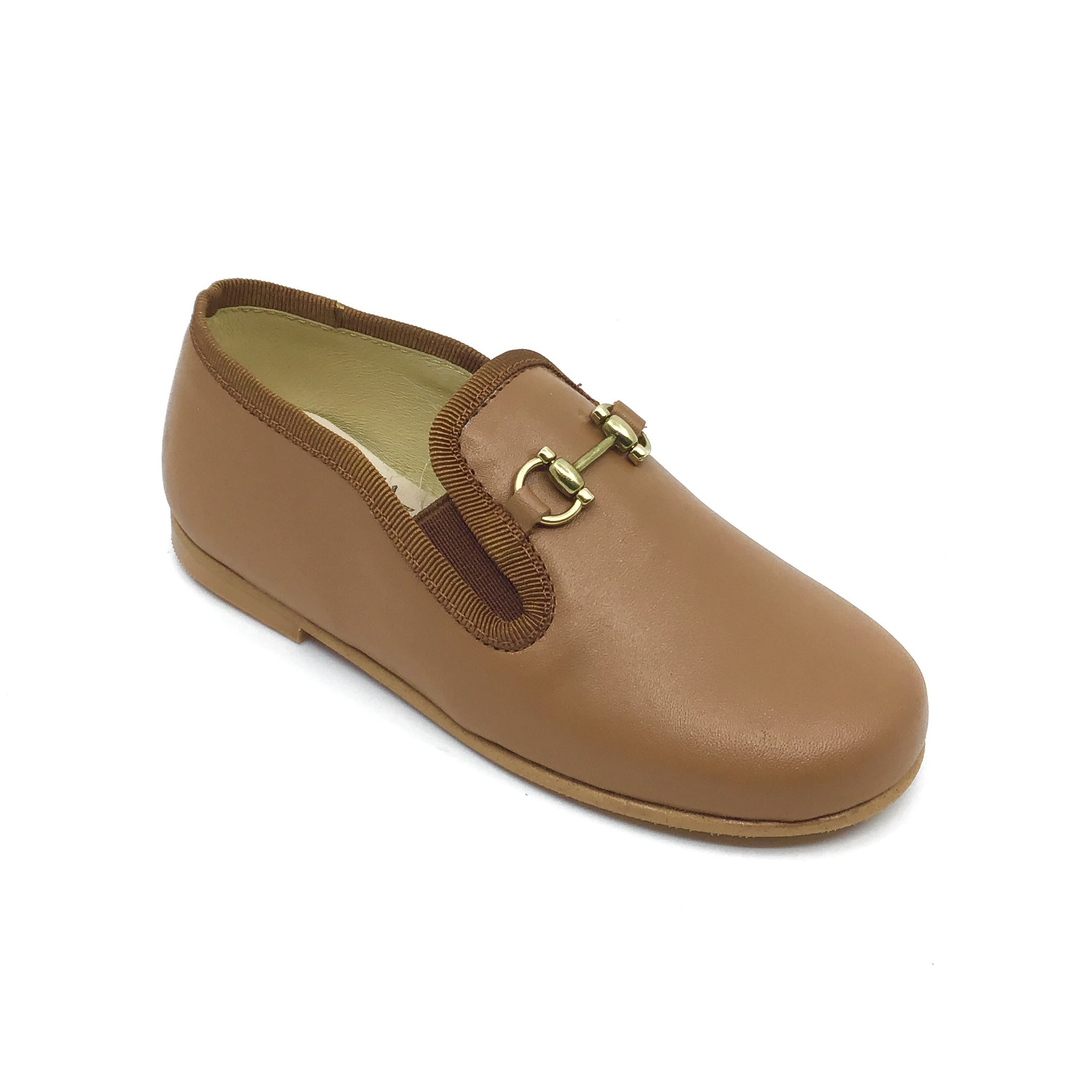 Luccini Brown Loafer with Chain