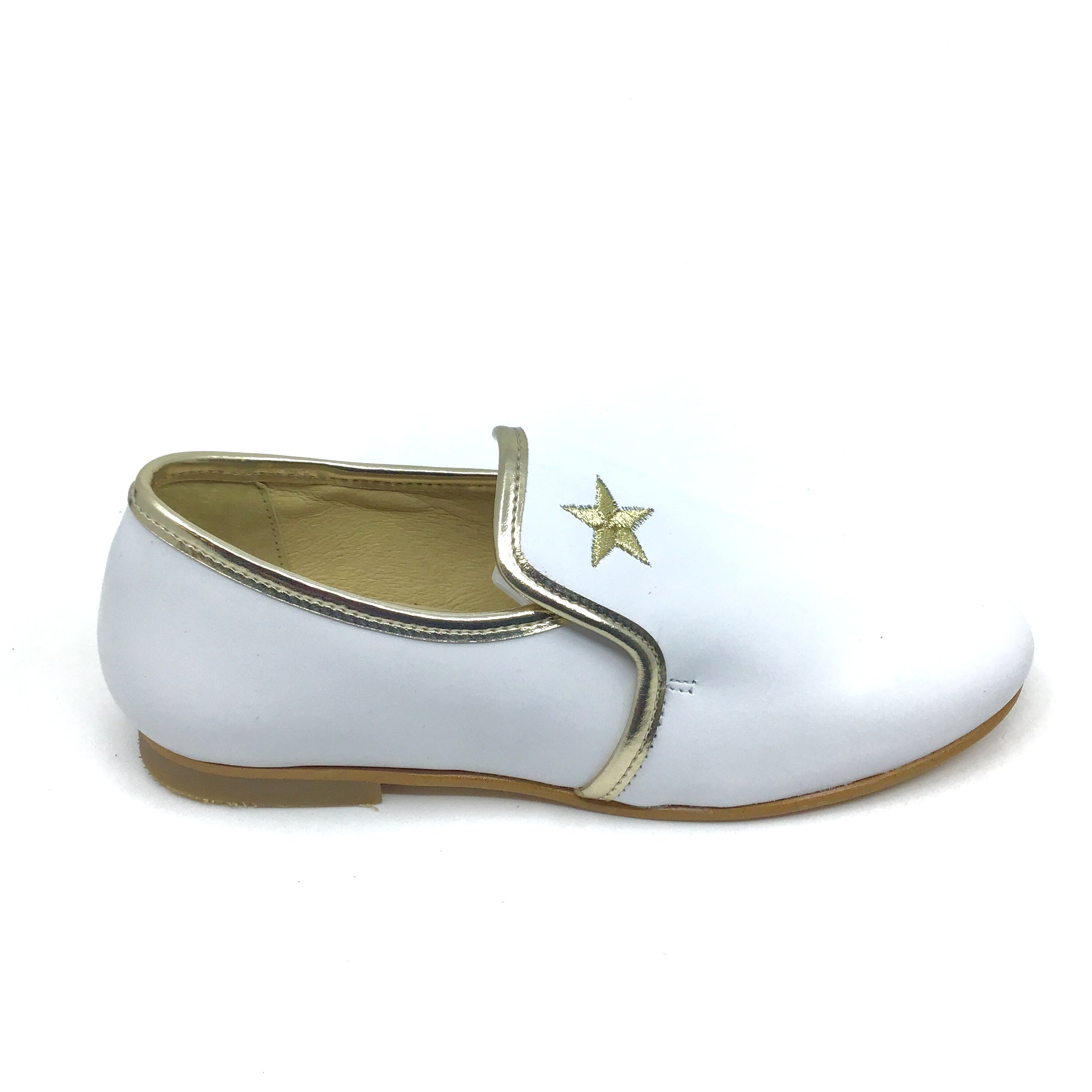 Luccini White  Slip On with Star