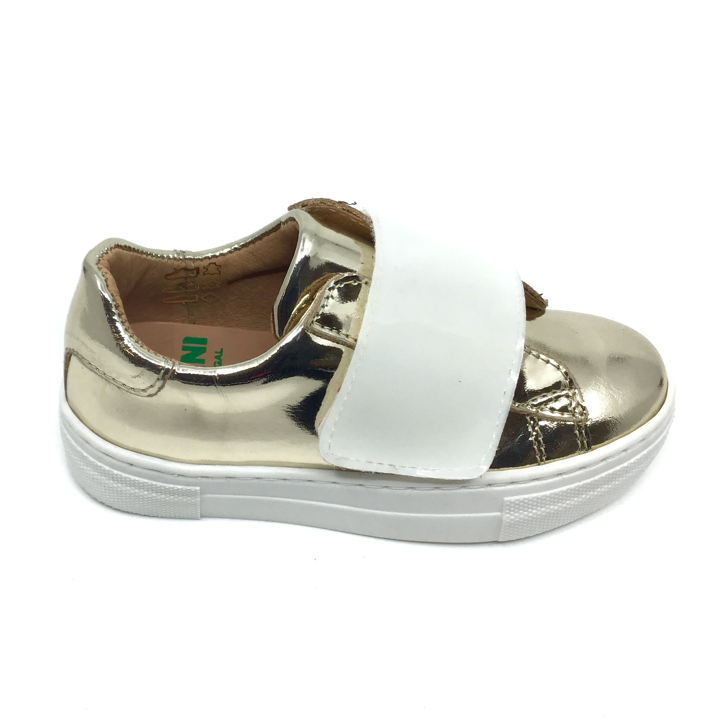 Fascani Gold Sneaker with White Velcro