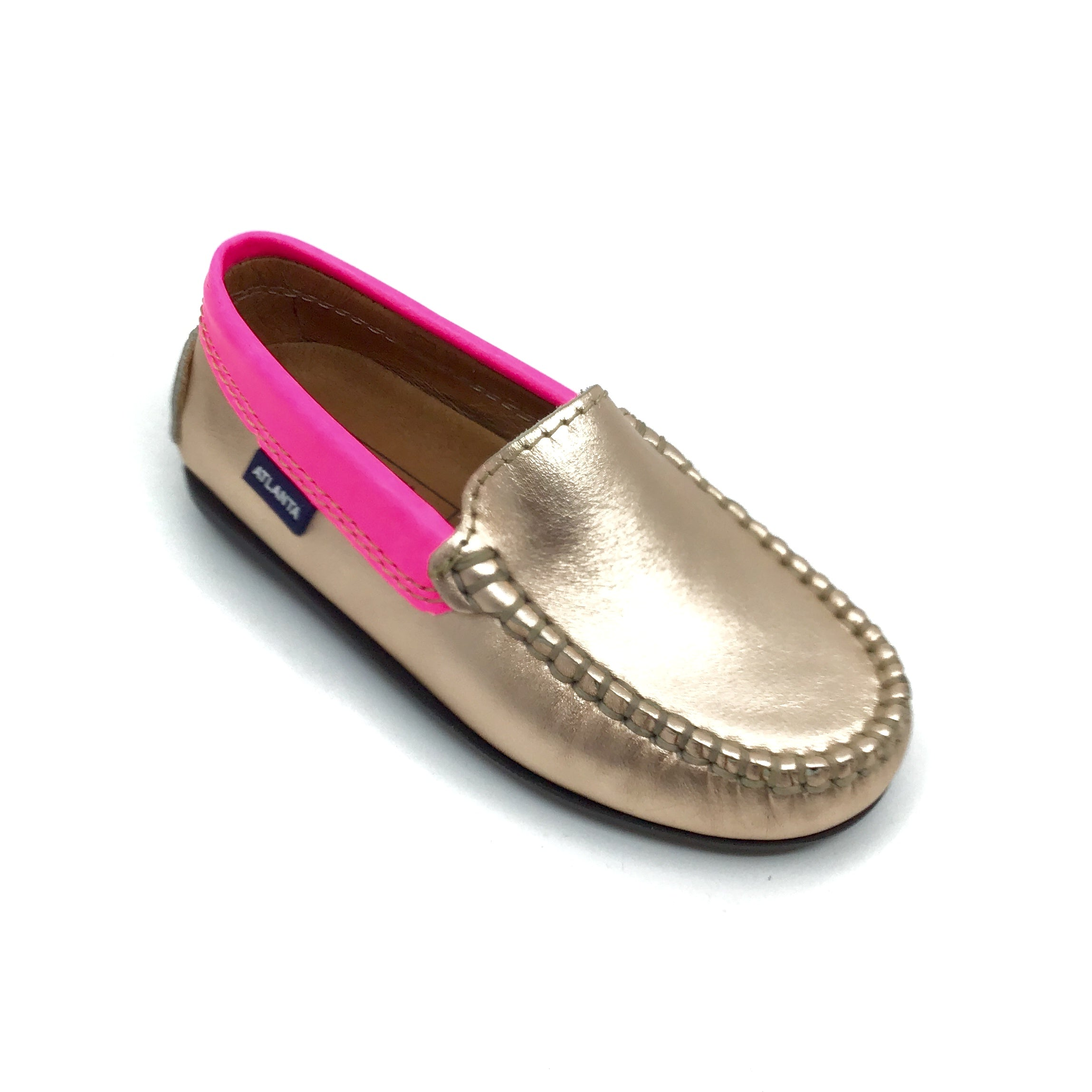 Atlanta Rose Gold Loafer with Trim