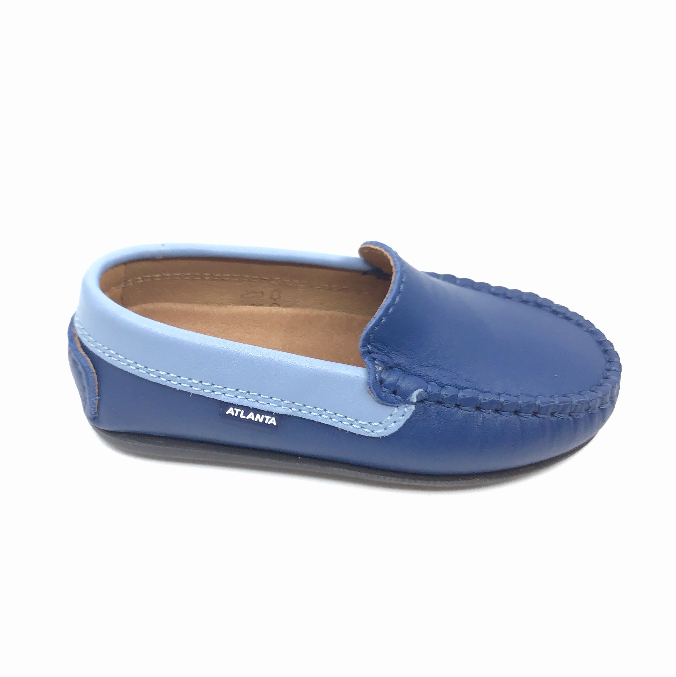 Atlanta Blue Loafer with Trim