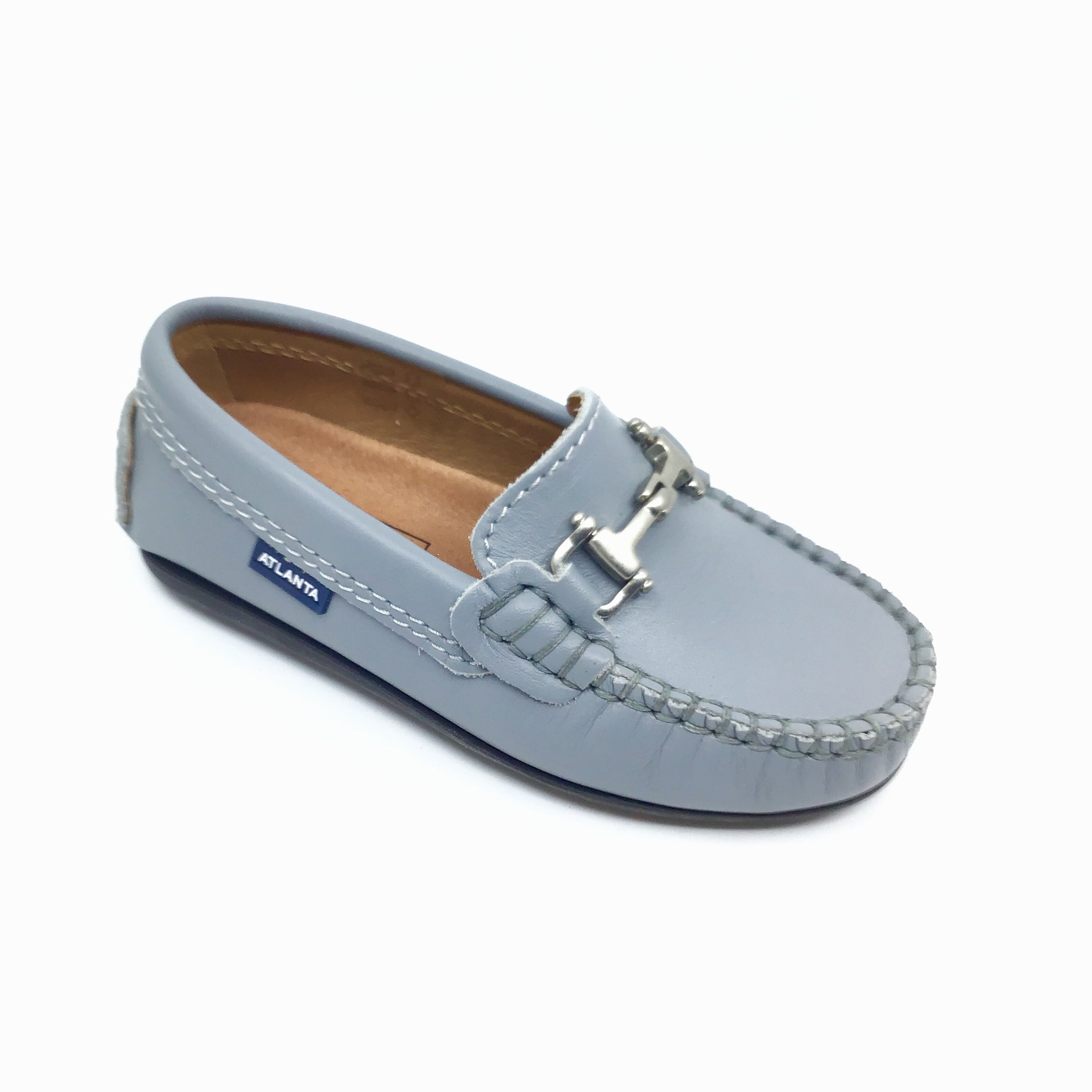 Atlanta Gray Loafer with Chain