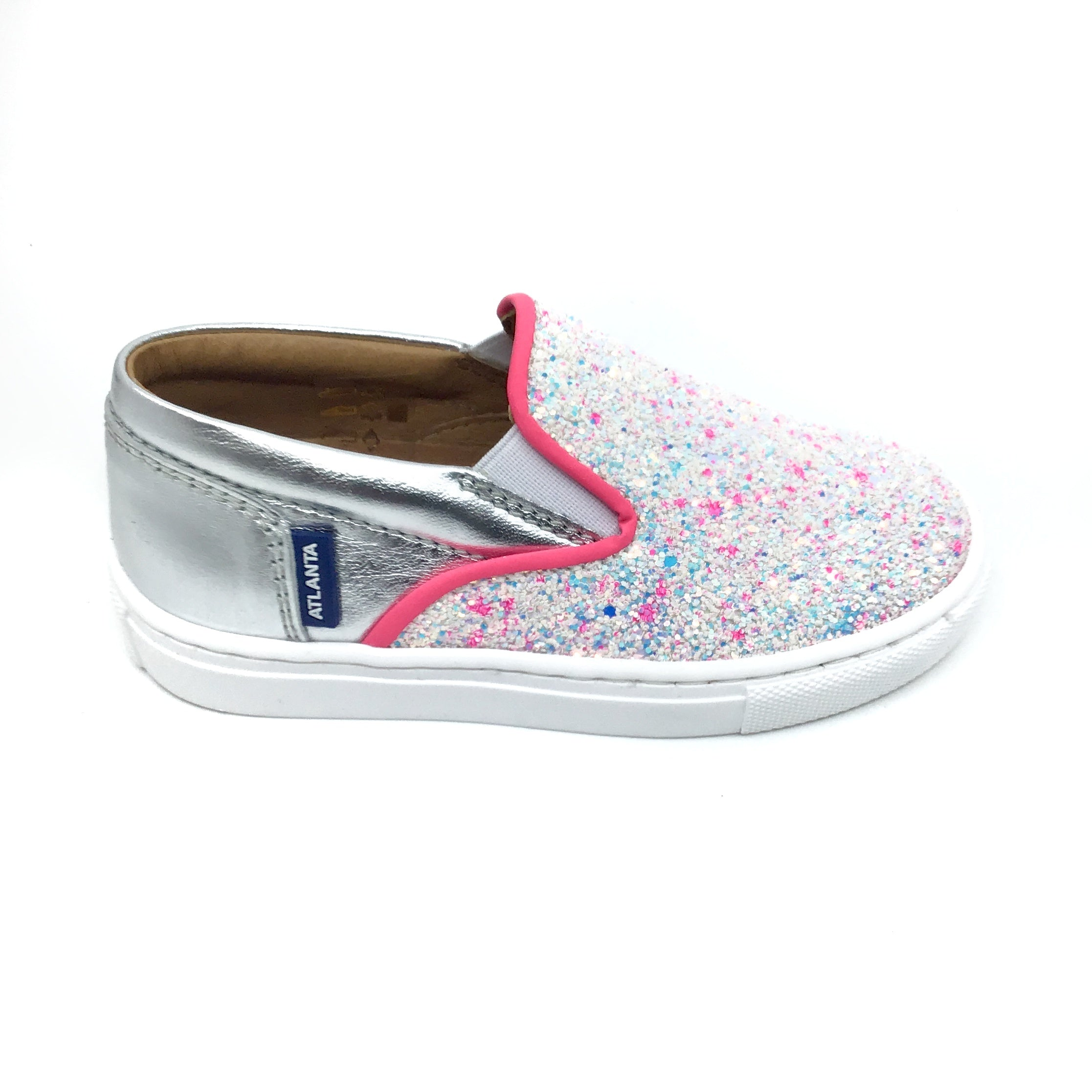 Atlanta Silver and Glitter Slip On