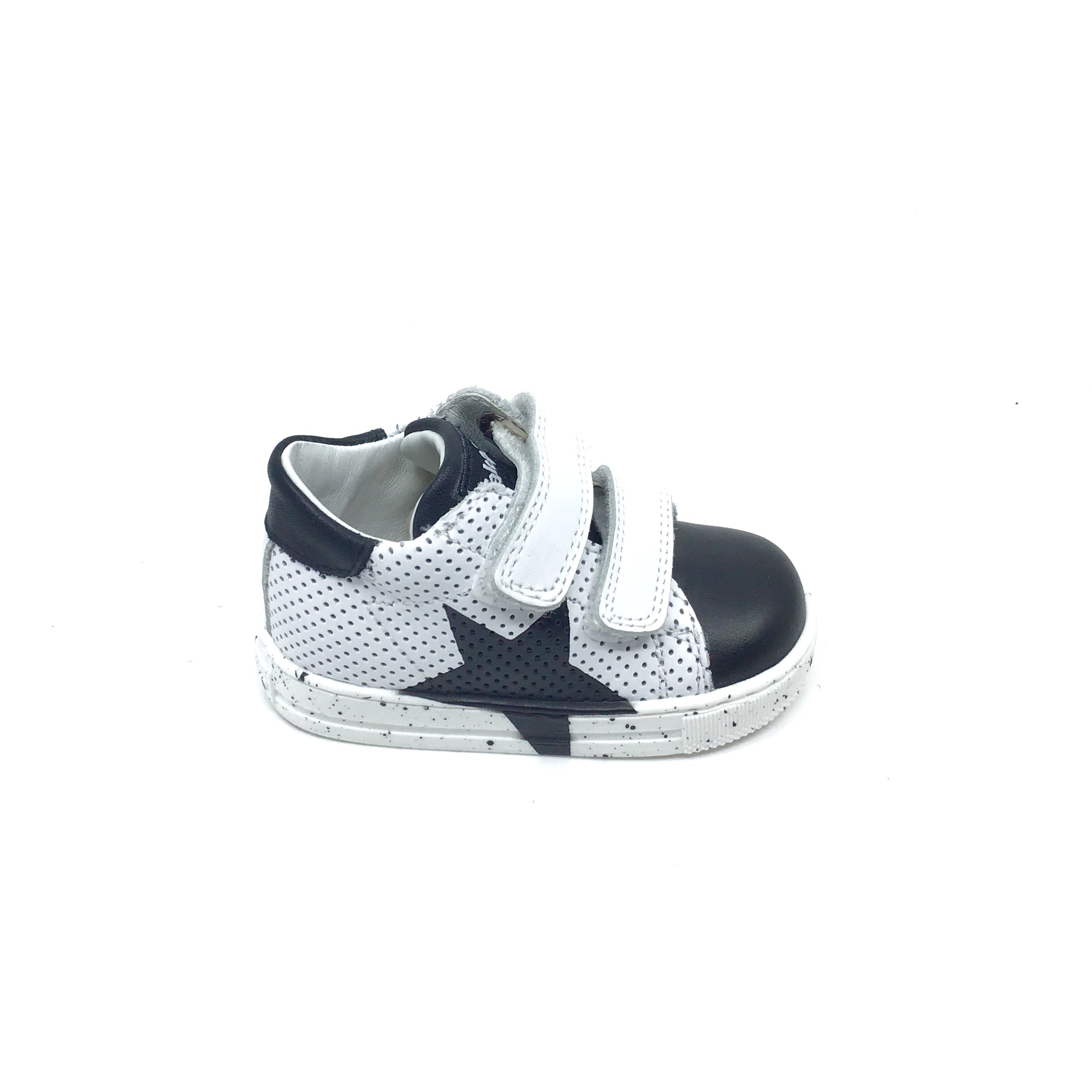 Falcotto White Sneaker with Black Star