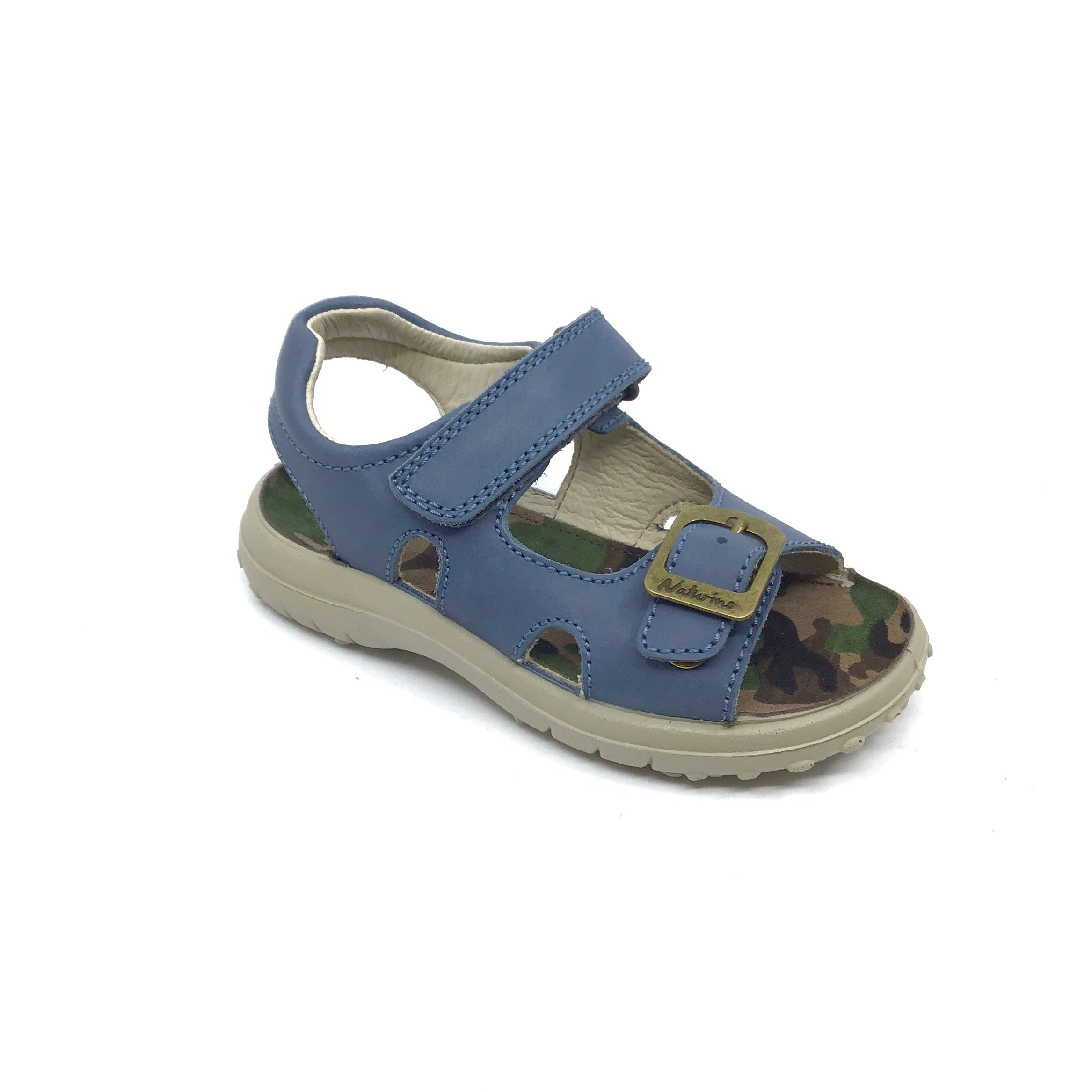Naturino Blue Sandal with Velcro and Buckle