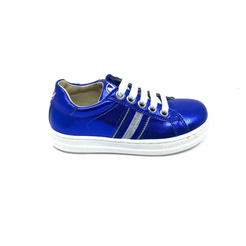 Naturino Blue Sneaker with Silver Trim