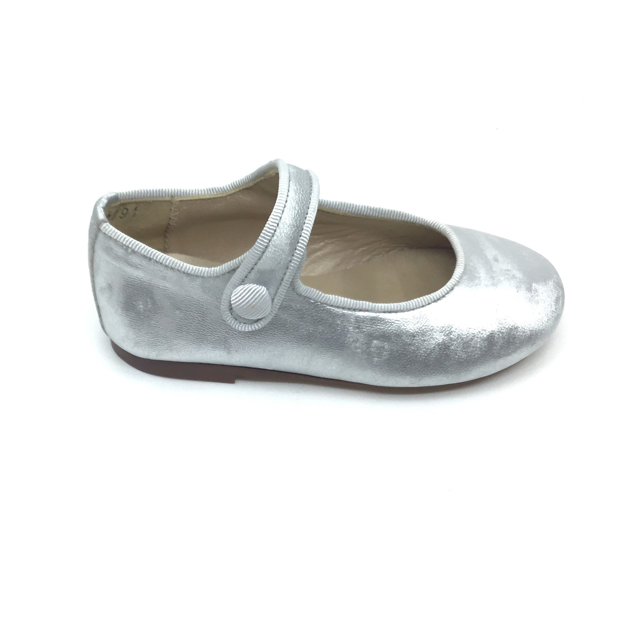 Papanatas Silver Shimmer Mary Jane