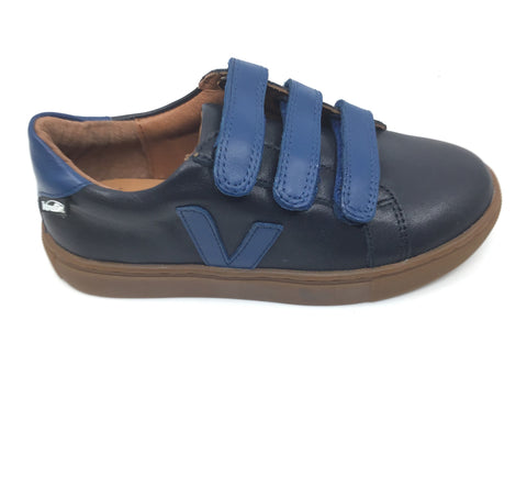 Venettini Navy and Blue Triple Velcro Sneaker