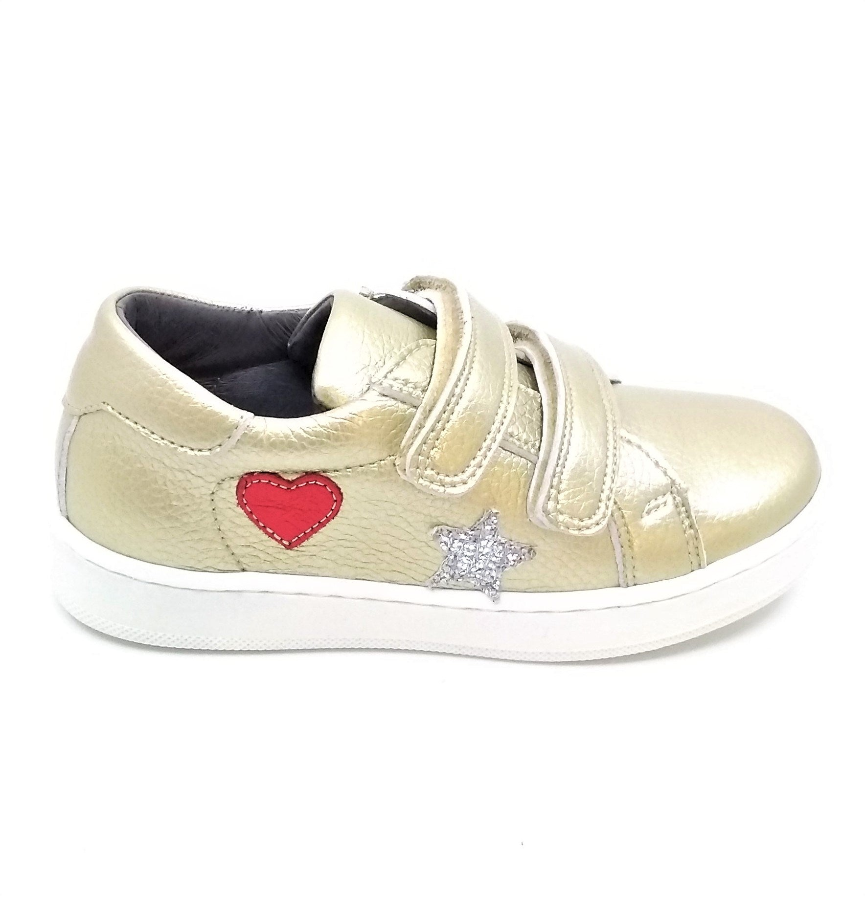 Blublonc Gold Velcro with Heart