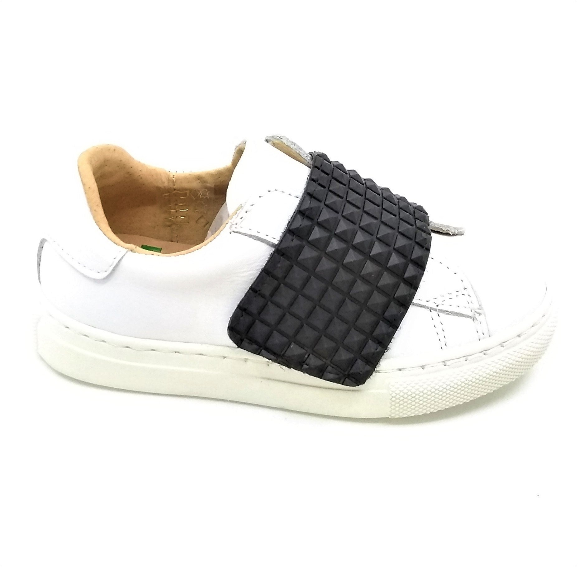 Fascani White Leather with Black Strap