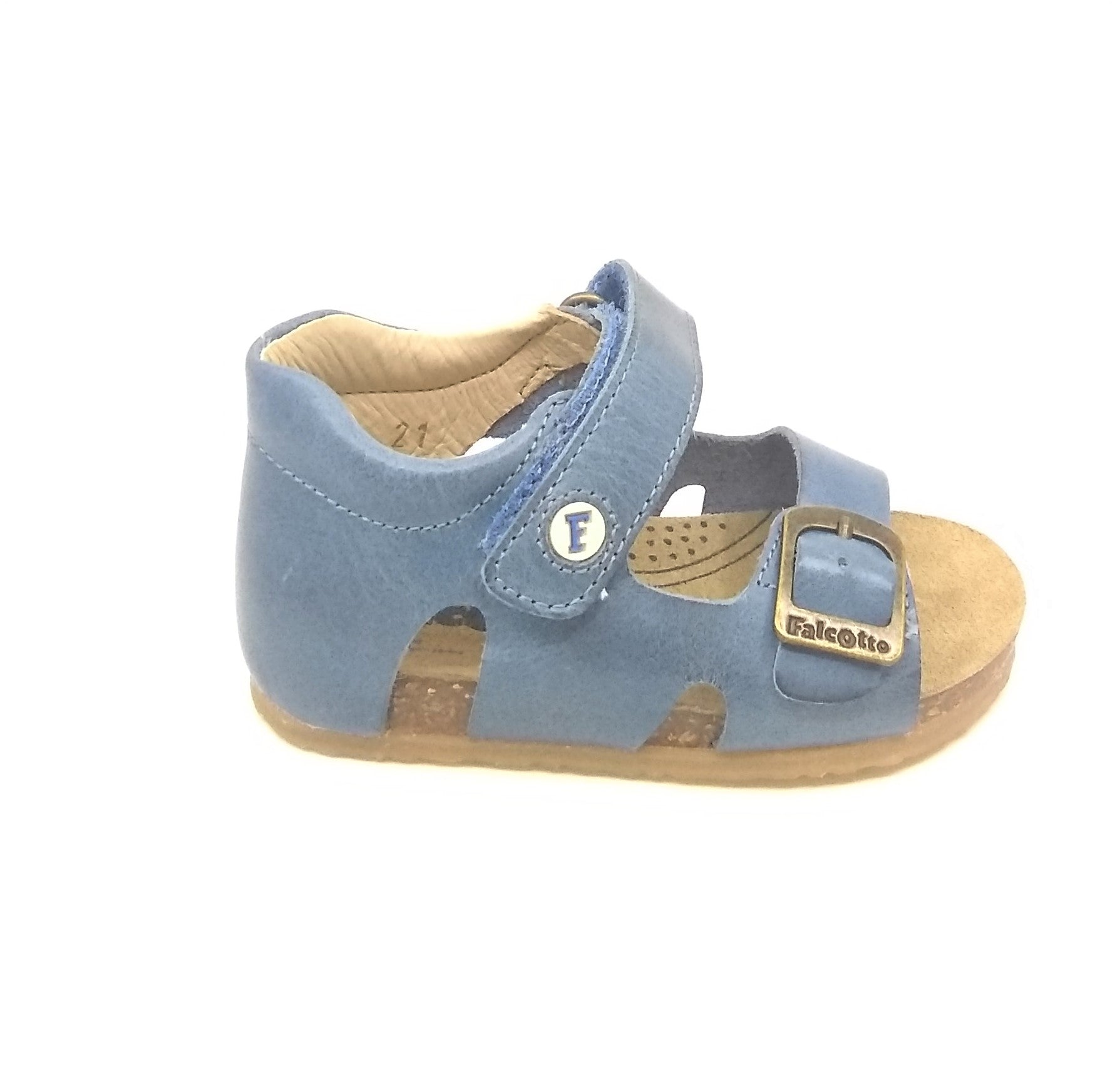 Falcotto Sandal And Velcro Blue Buckle With WE9HYID2