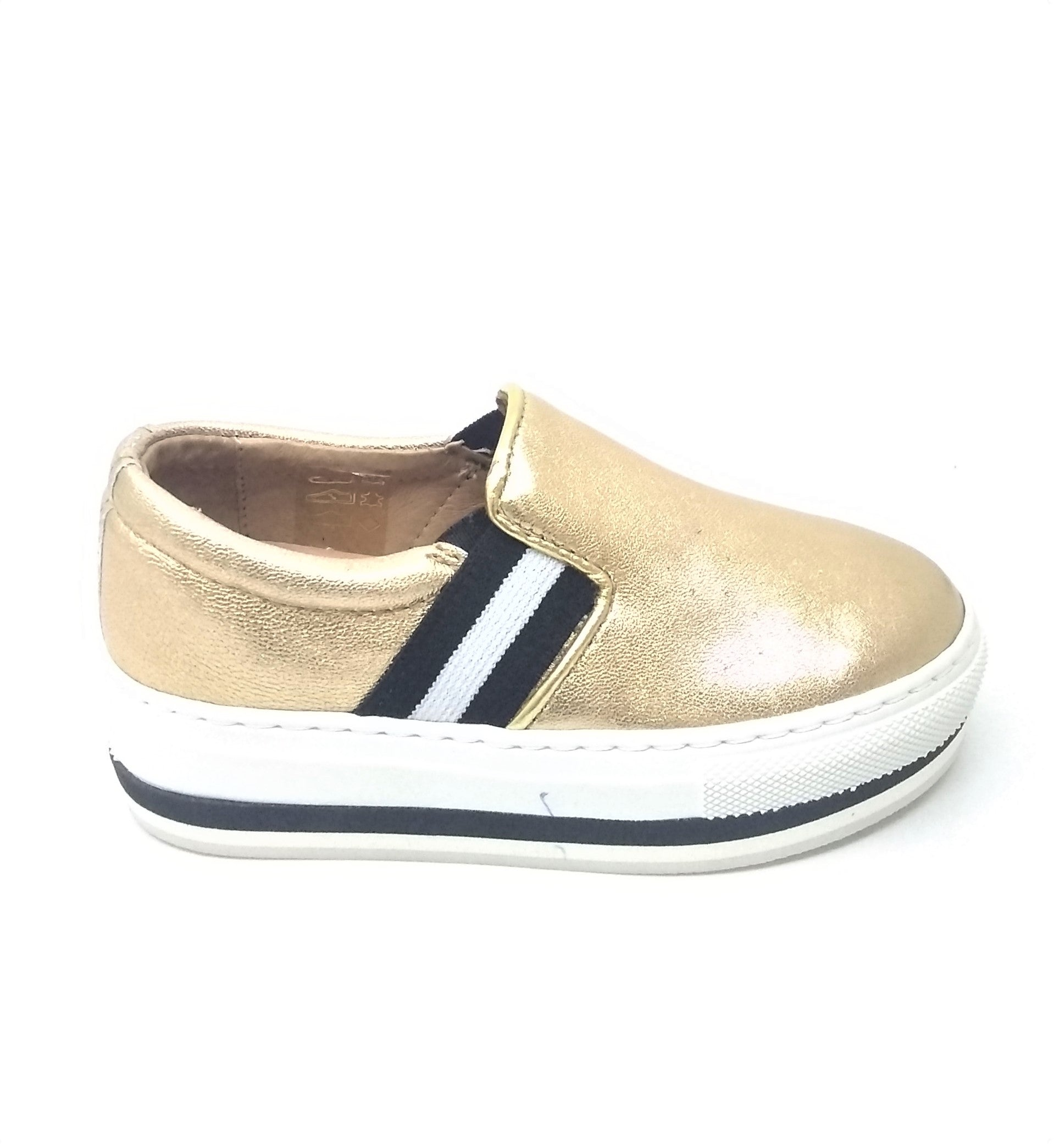 Fascani Gold Shoe with Strap