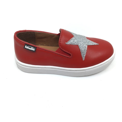 Venettini Red Slip On with Star