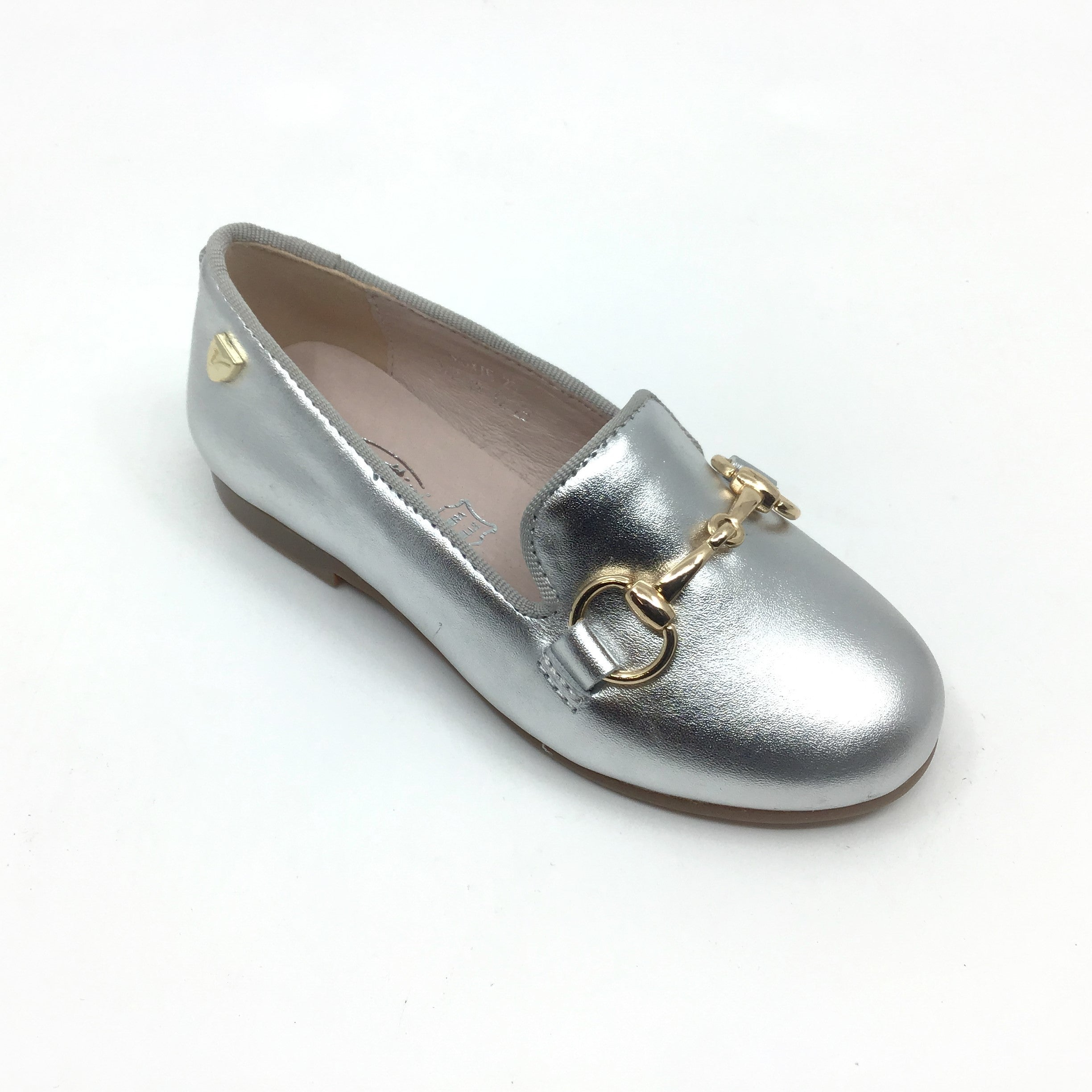 Venettini Silver Loafer with Chain