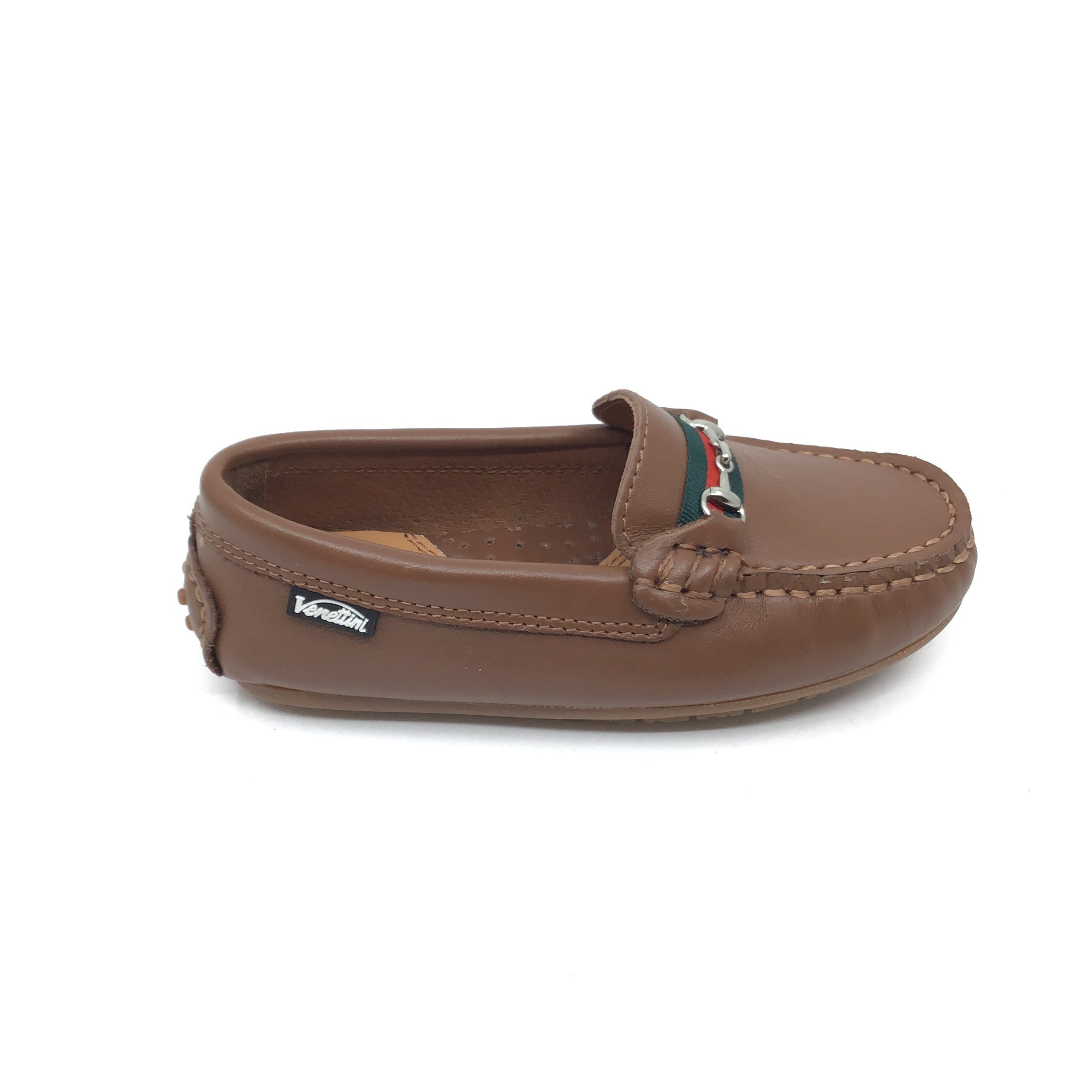 Venettini Brown Loafer with Chain