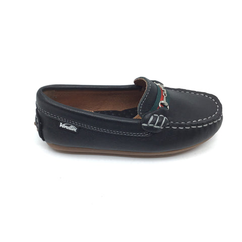 Venettini Black Loafer with Chain