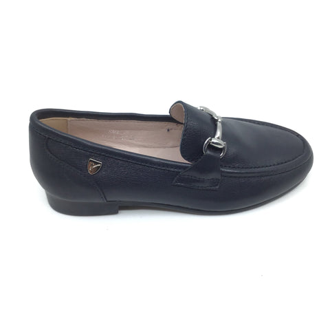 Venettini Navy Dress Loafer with Chain