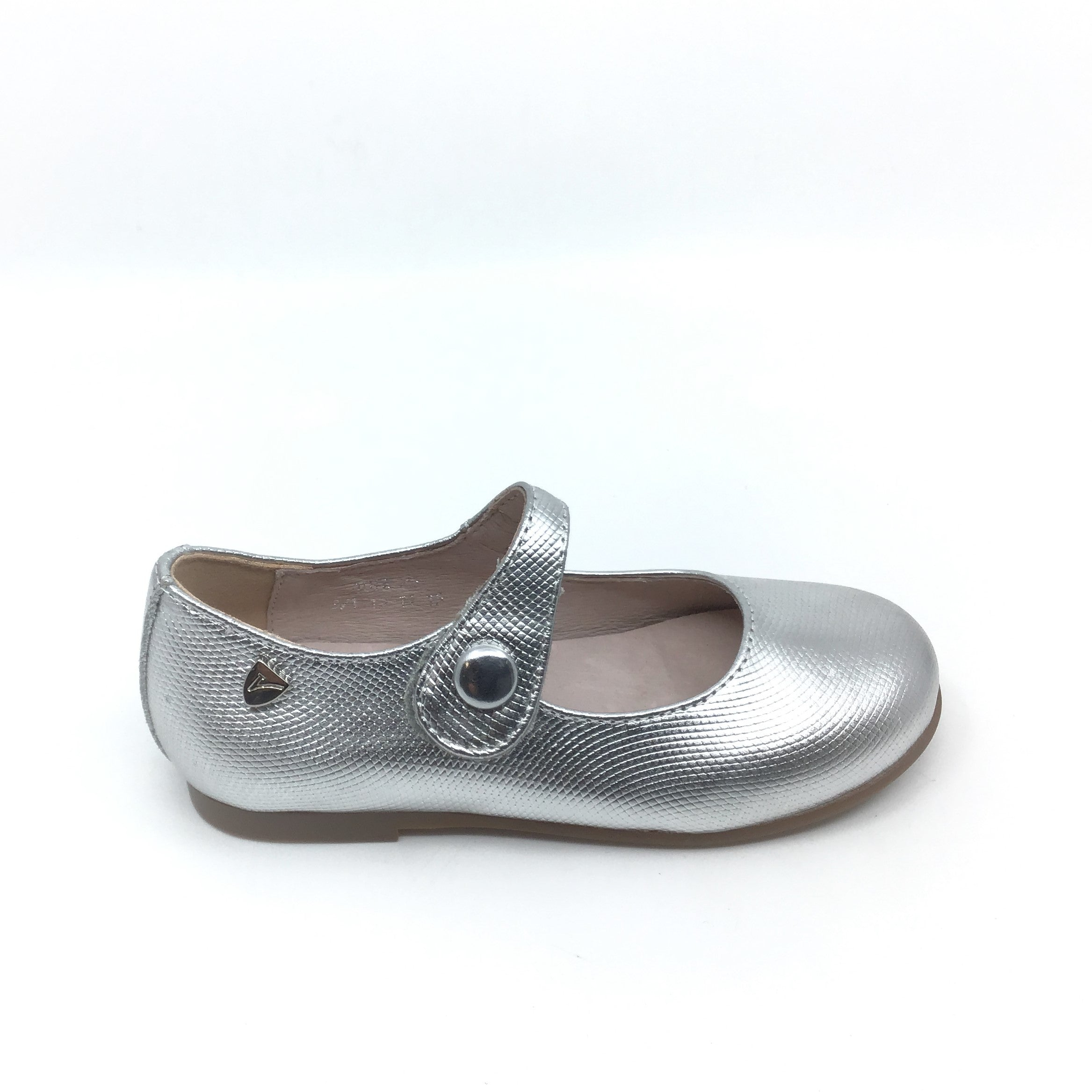 Venettini Silver Textured Mary Jane