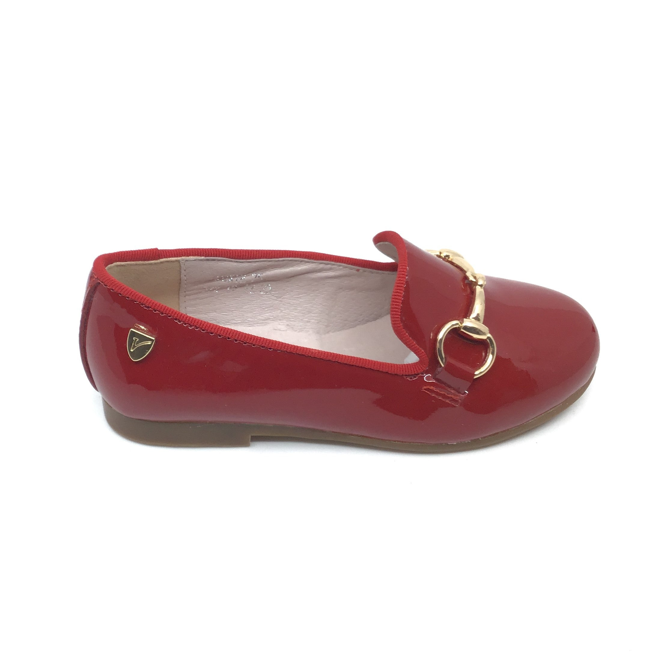 Venettini Red Patent Slip On with Chain