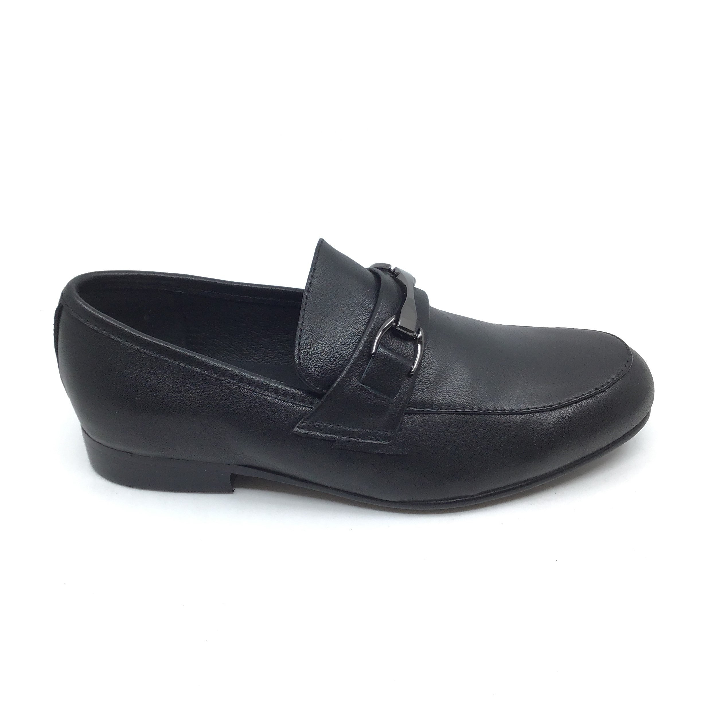 Venettini Black Dress Shoe with Black Chain