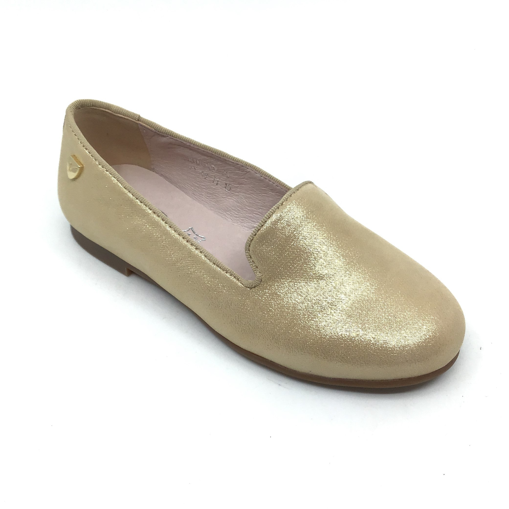 Venettini Gold Sparkle Loafer