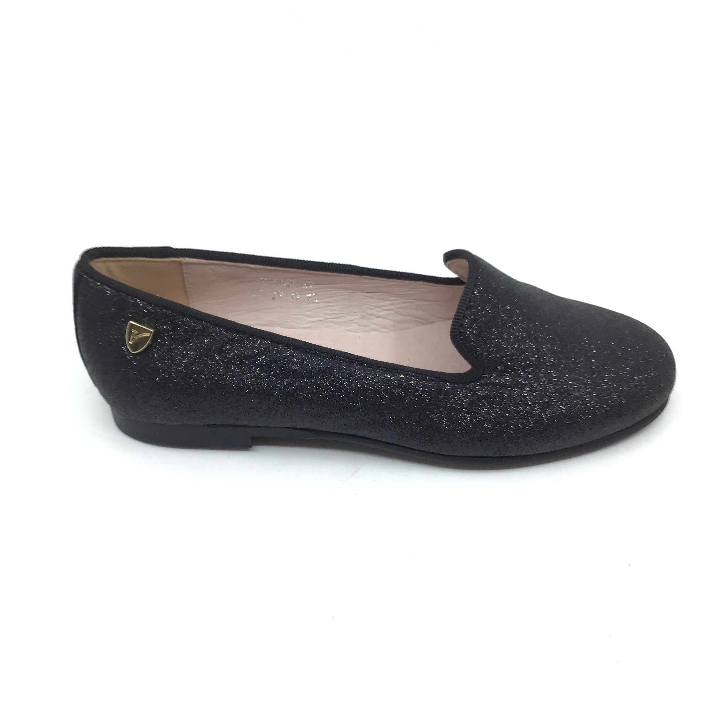 Venettini Black Glitter Slip On