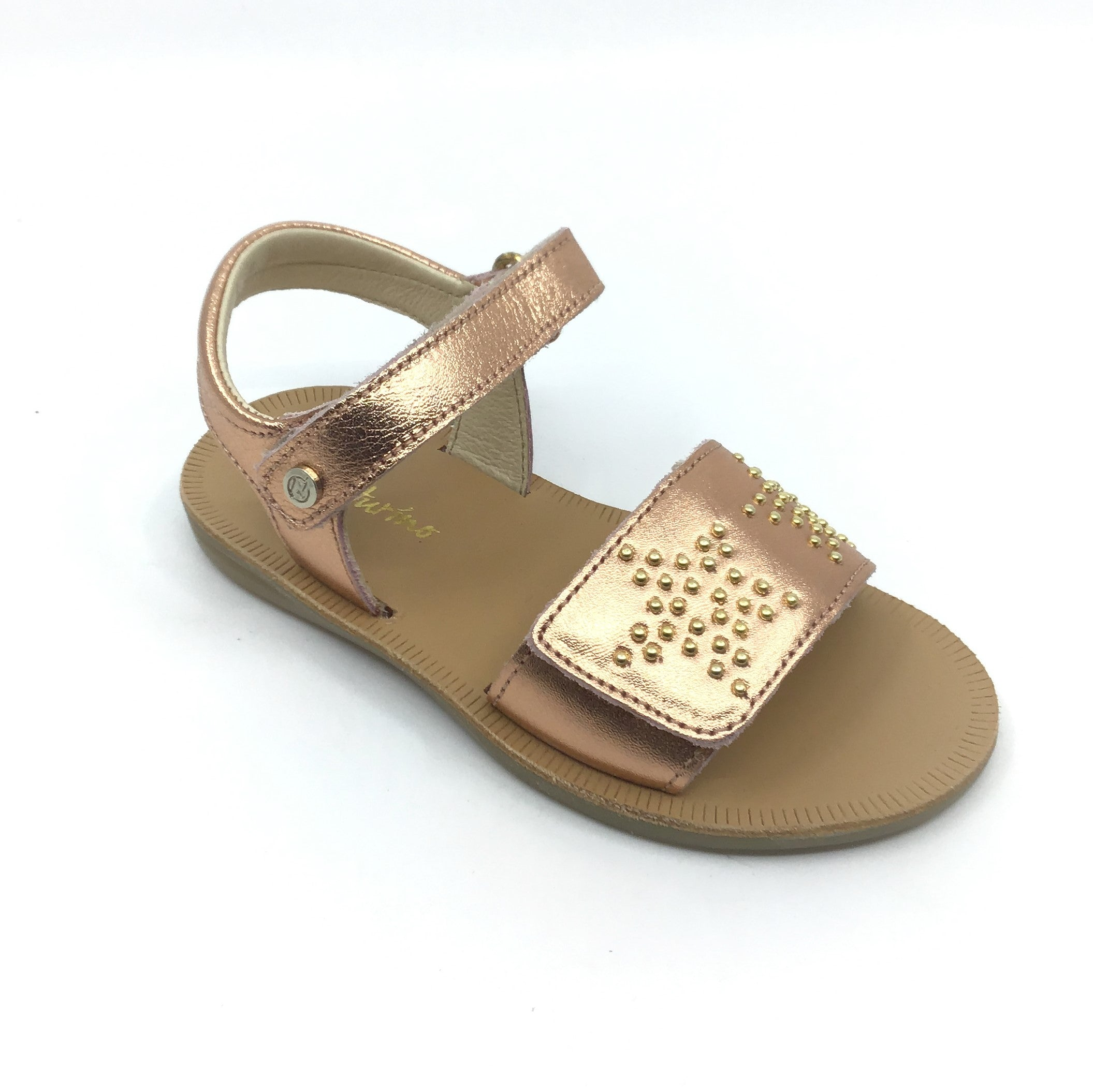 Naturino Rose Gold Sandal with Studs
