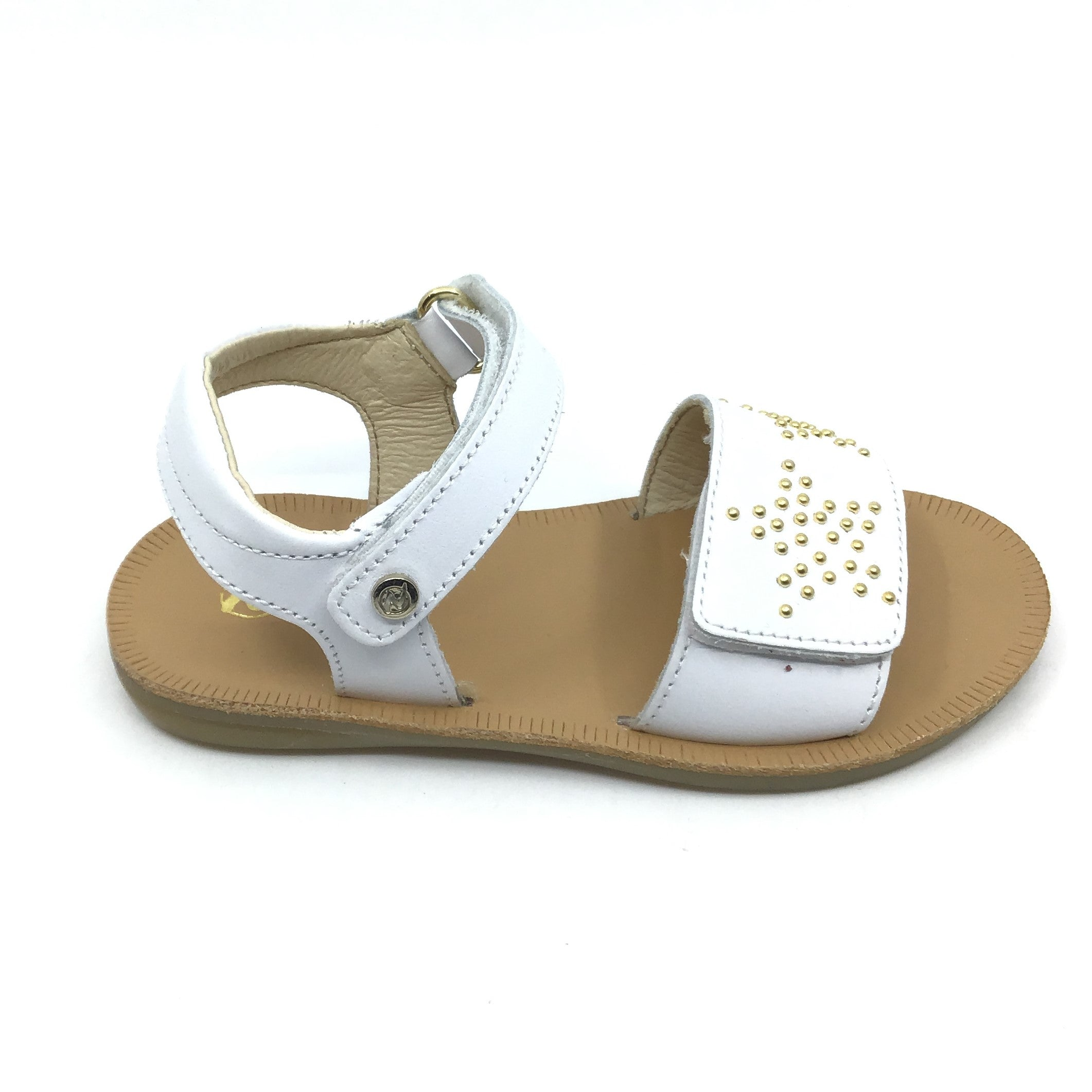Naturino White Sandal with Studs