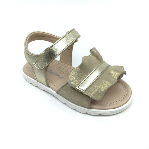 Naturino Gold Velcro Sandal with Bow