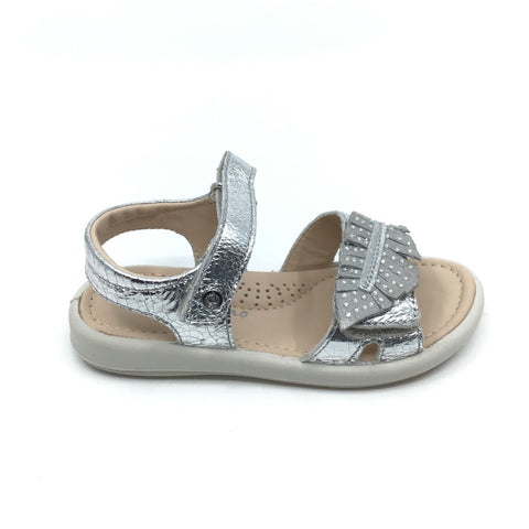 Naturino Silver Sandal with Leaf