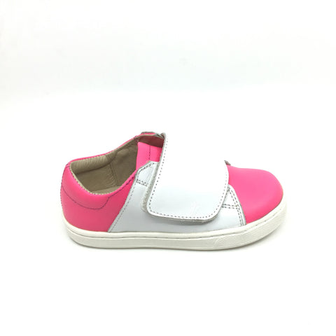 Old Soles Pink Casual Shoe with White Velcro