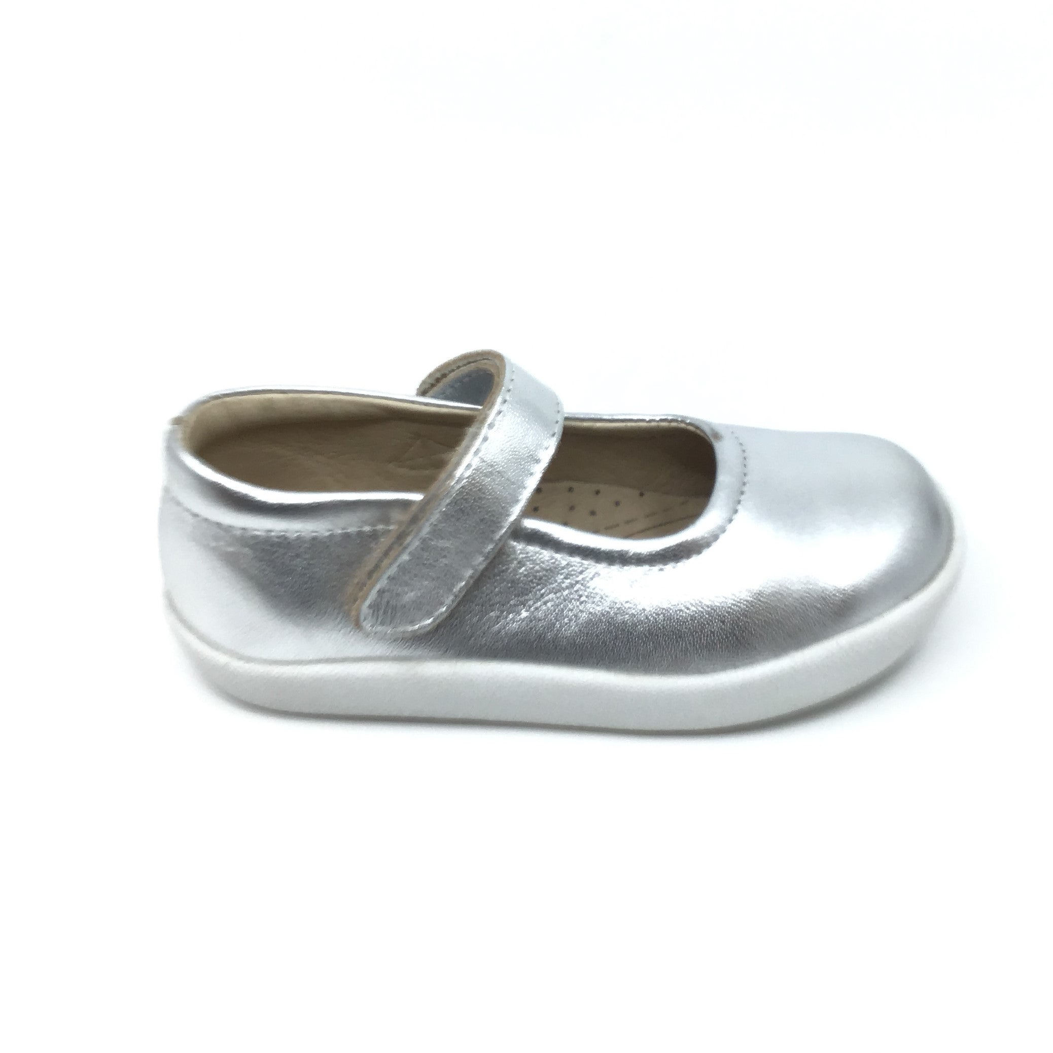 Old Soles Silver Shoe with Velcro Strap