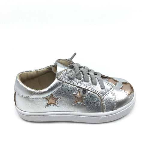 Old Soles Silver Laced Sneaker with Stars