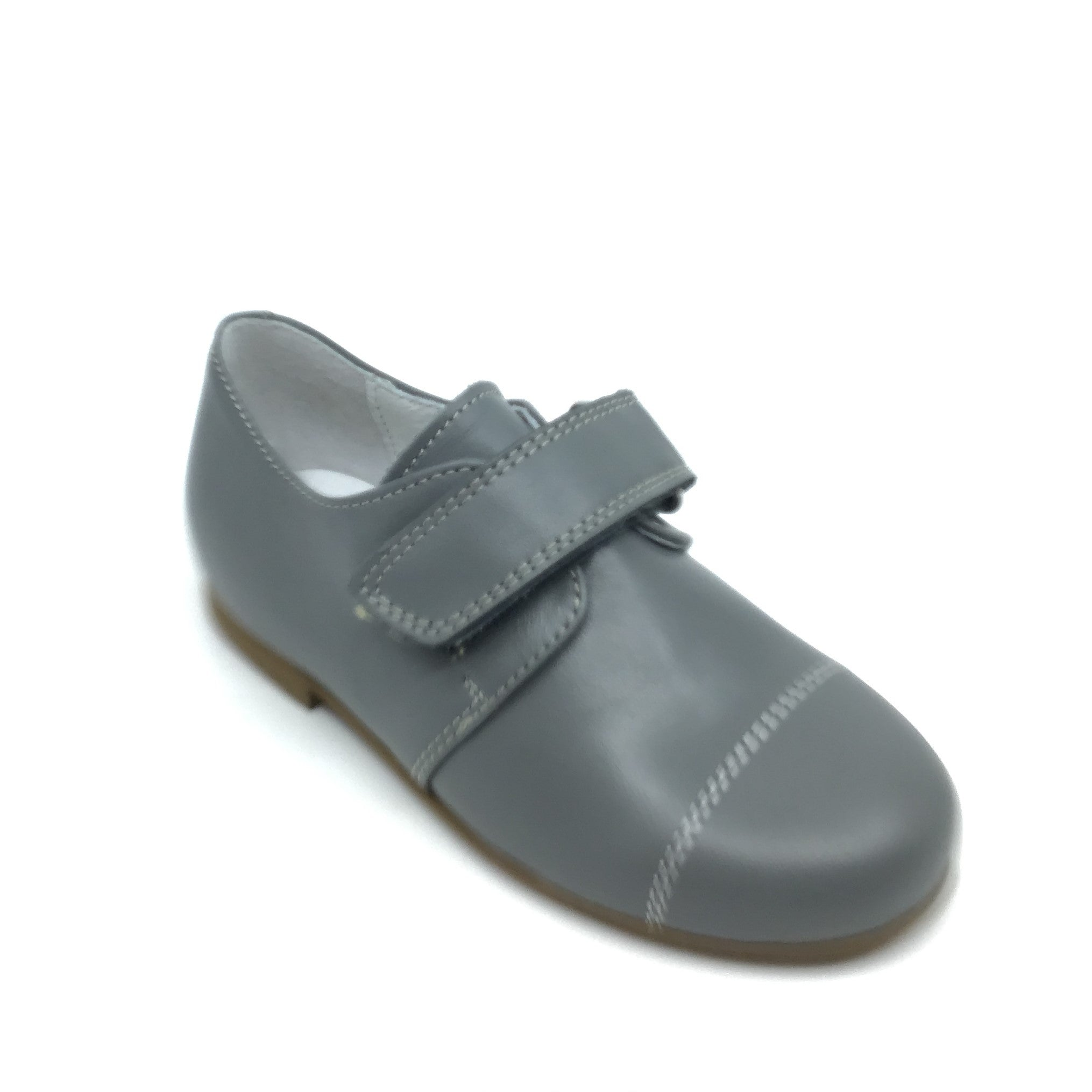Zapeti Gray Velcro Dress Shoe