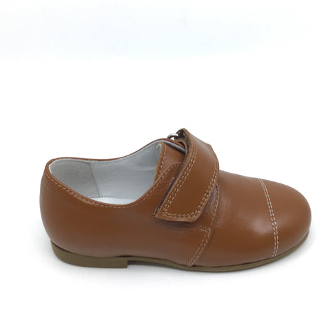 Zapeti Brown Velcro Dress Shoe