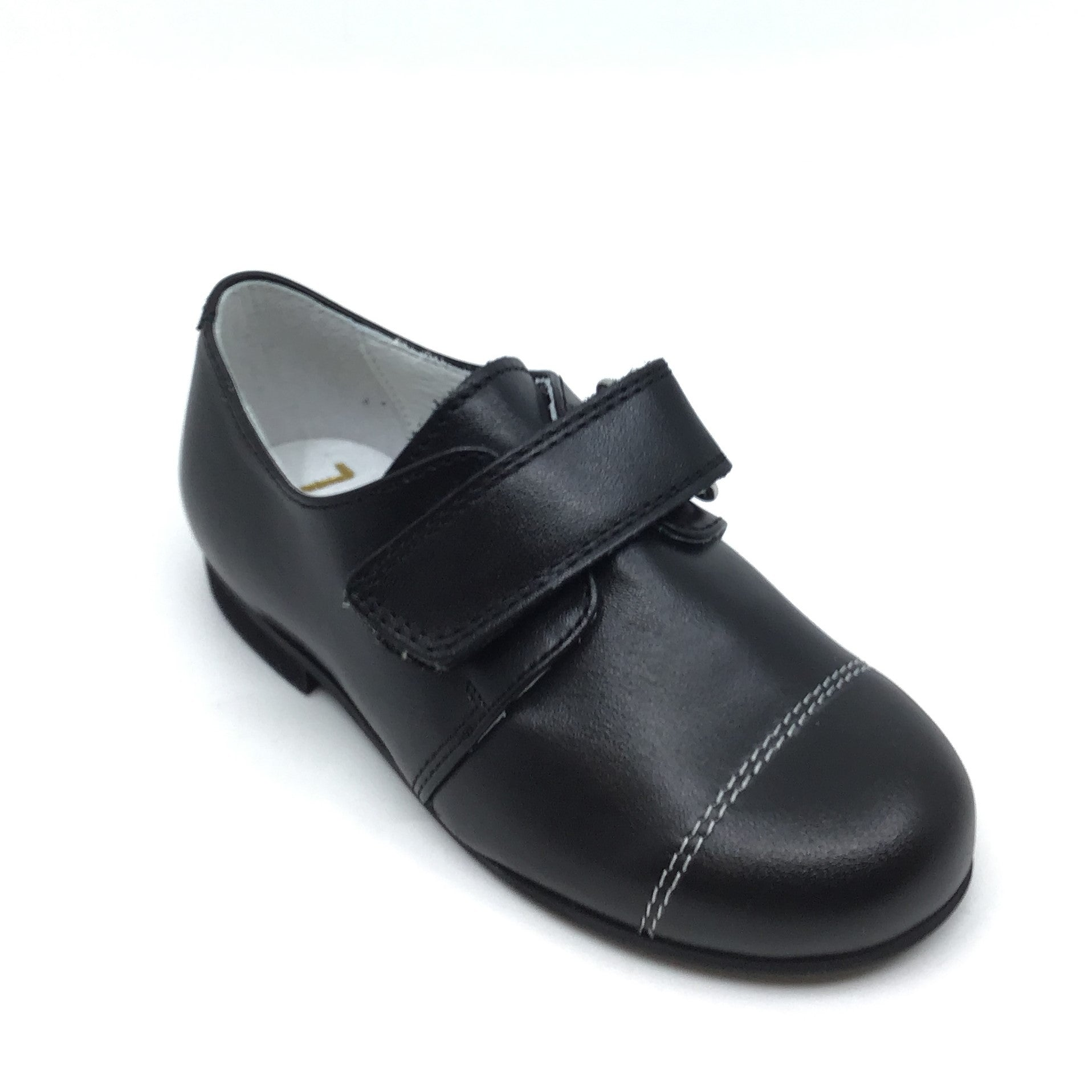 Zapeti Black Velcro Dress Shoe