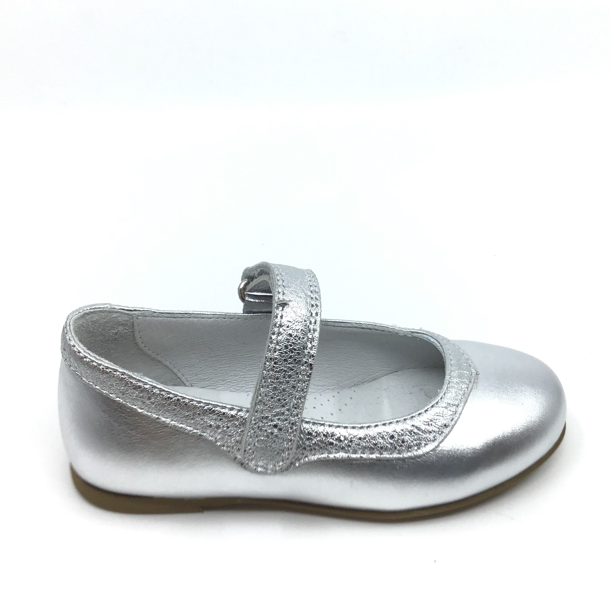 Zapeti Silver Mary Jane with Silver Trim