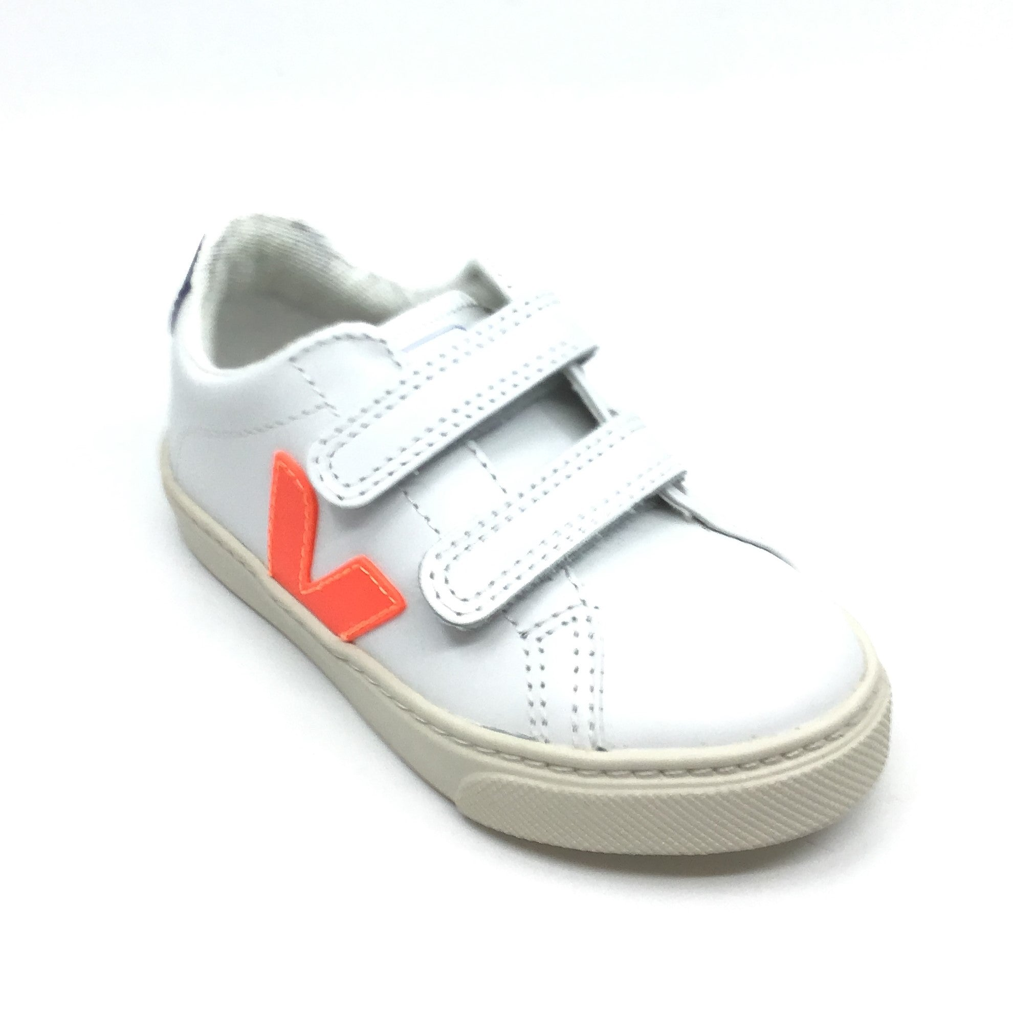 Veja White Sneaker with Neon Orange V