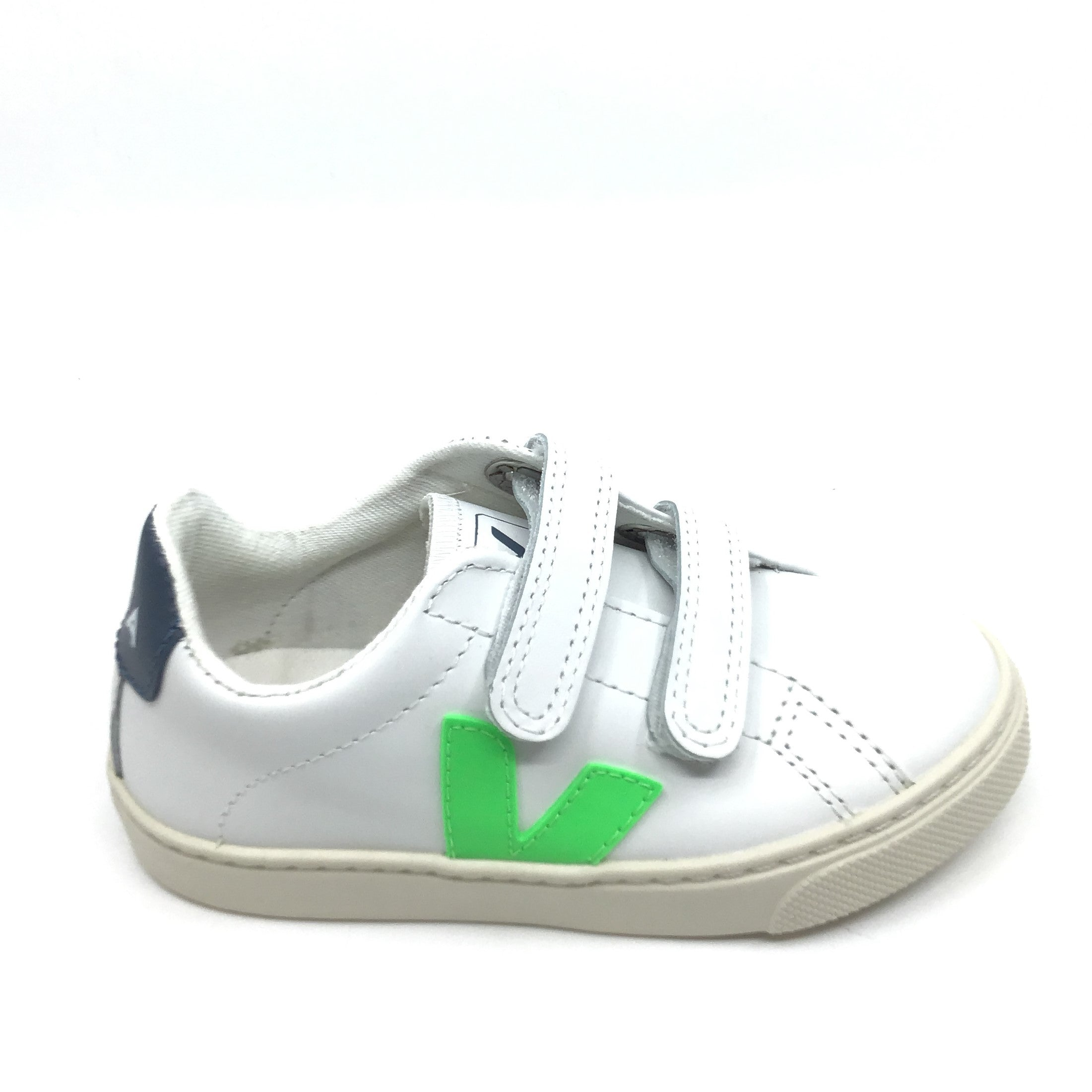 Veja White Sneaker with Neon Green V