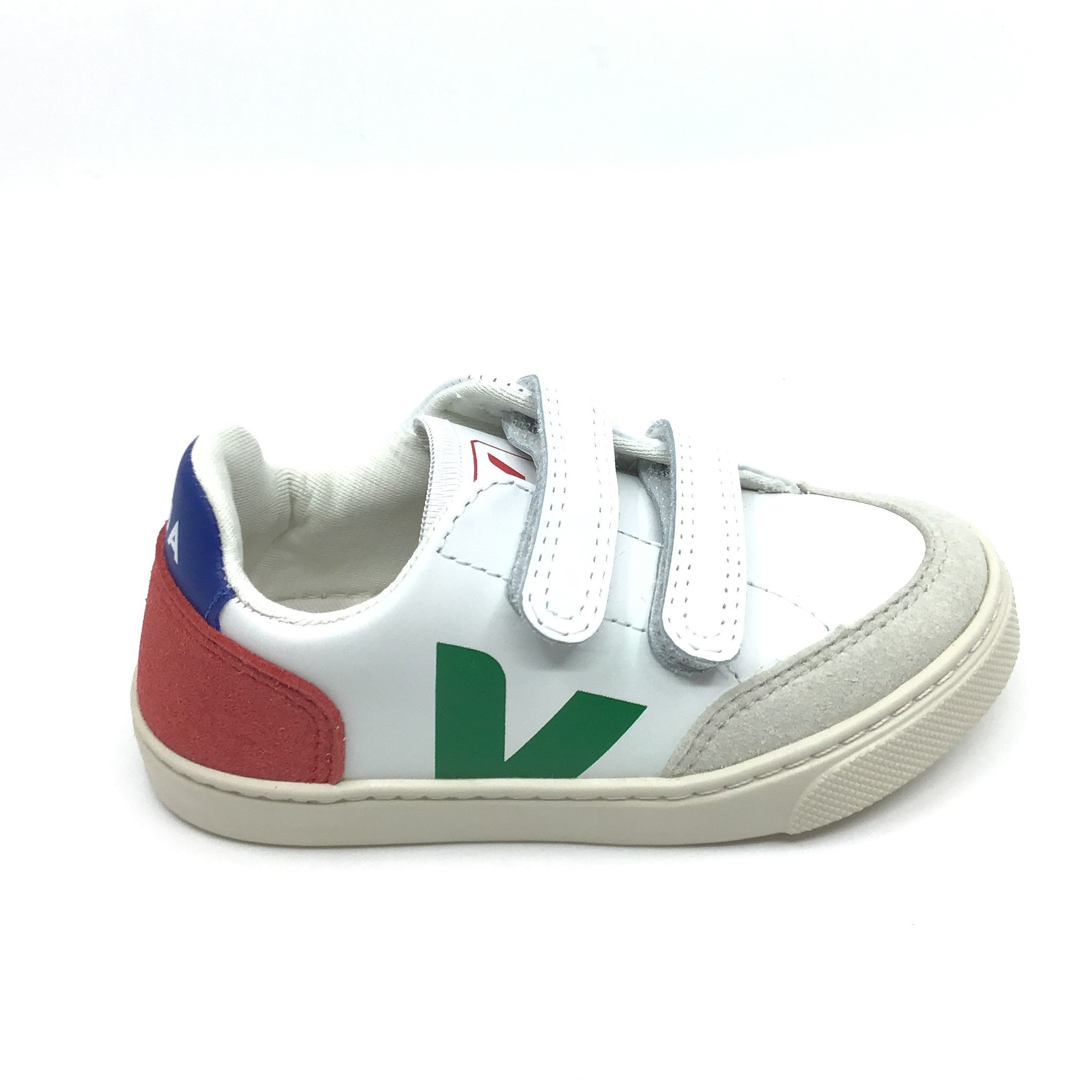 Veja White Sneaker with Dark Green V